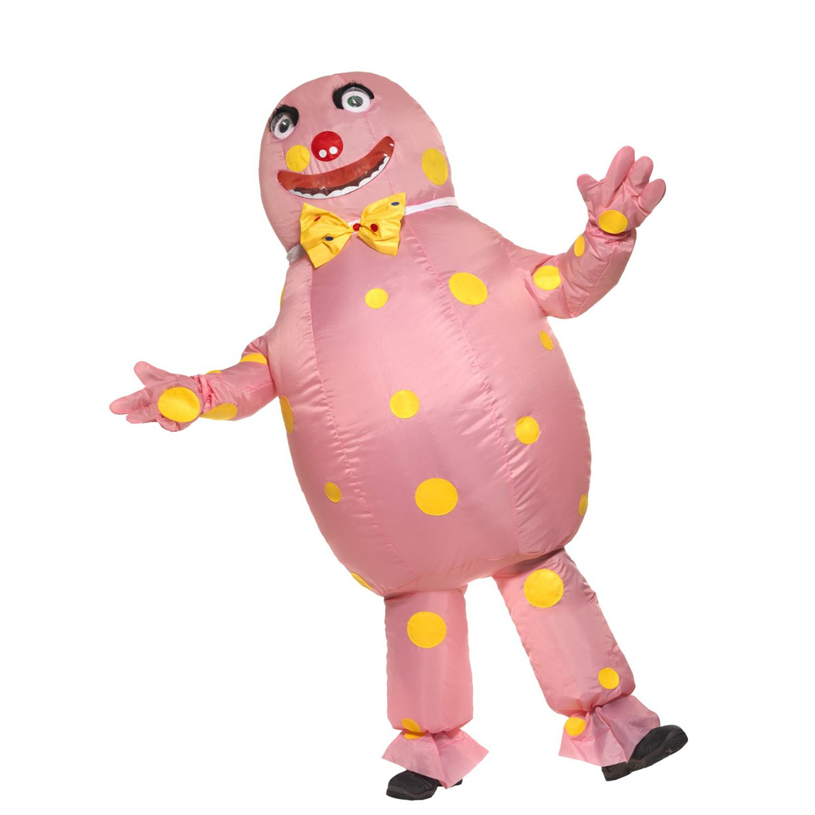 Adult Mens Polka Dot Mr Blobby Inflatable Fancy Dress Stag