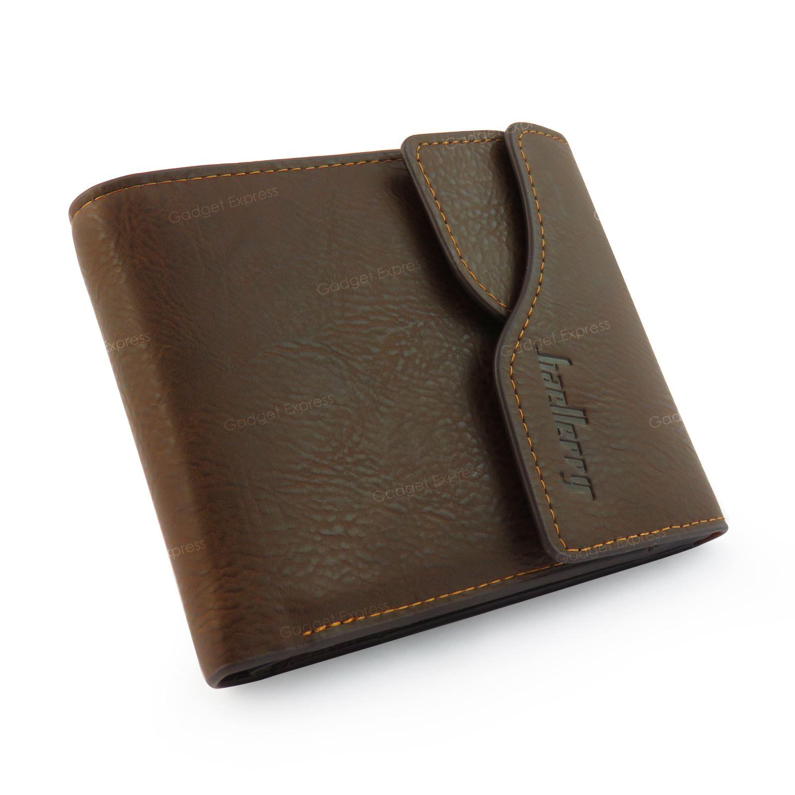 MENS HIGH QUALITY GENUINE SOFT LEATHER BI-FOLD WALLET CREDIT CARD SLOTS 002