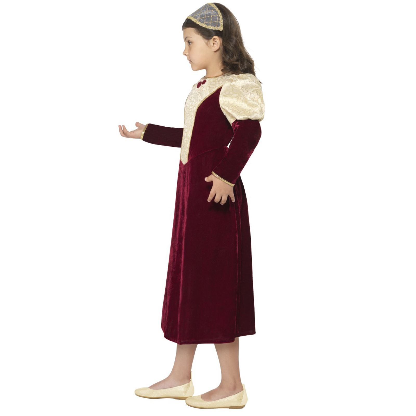 Kids Girls Historic Tudor Damsel Princess Medieval Fancy