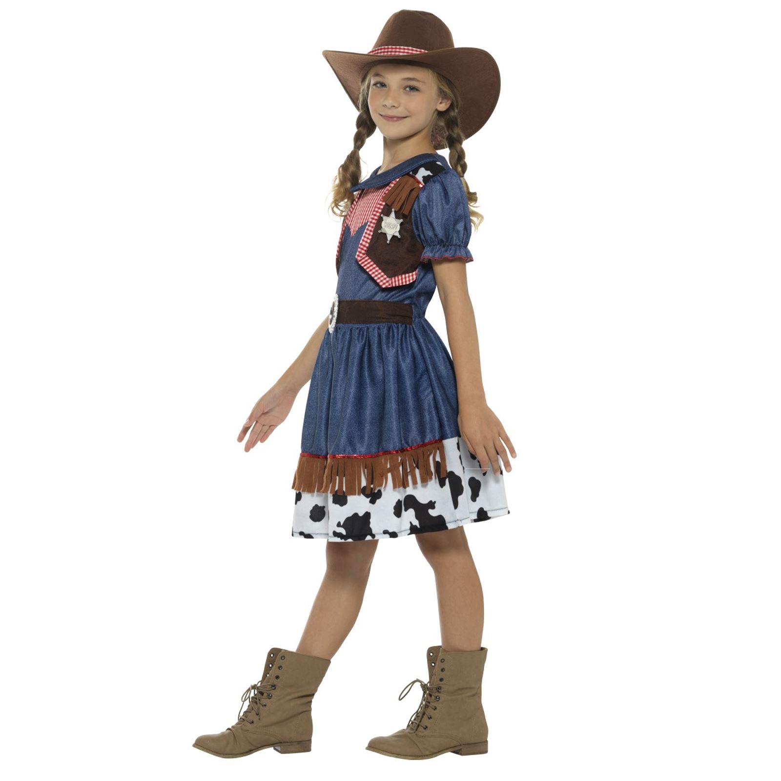 Girls Rodeo Cowgirl Costume  sc 1 st  eBay & Kids Girls Wild West Texan Rodeo Cowgirl Jessie Fancy Dress Book ...