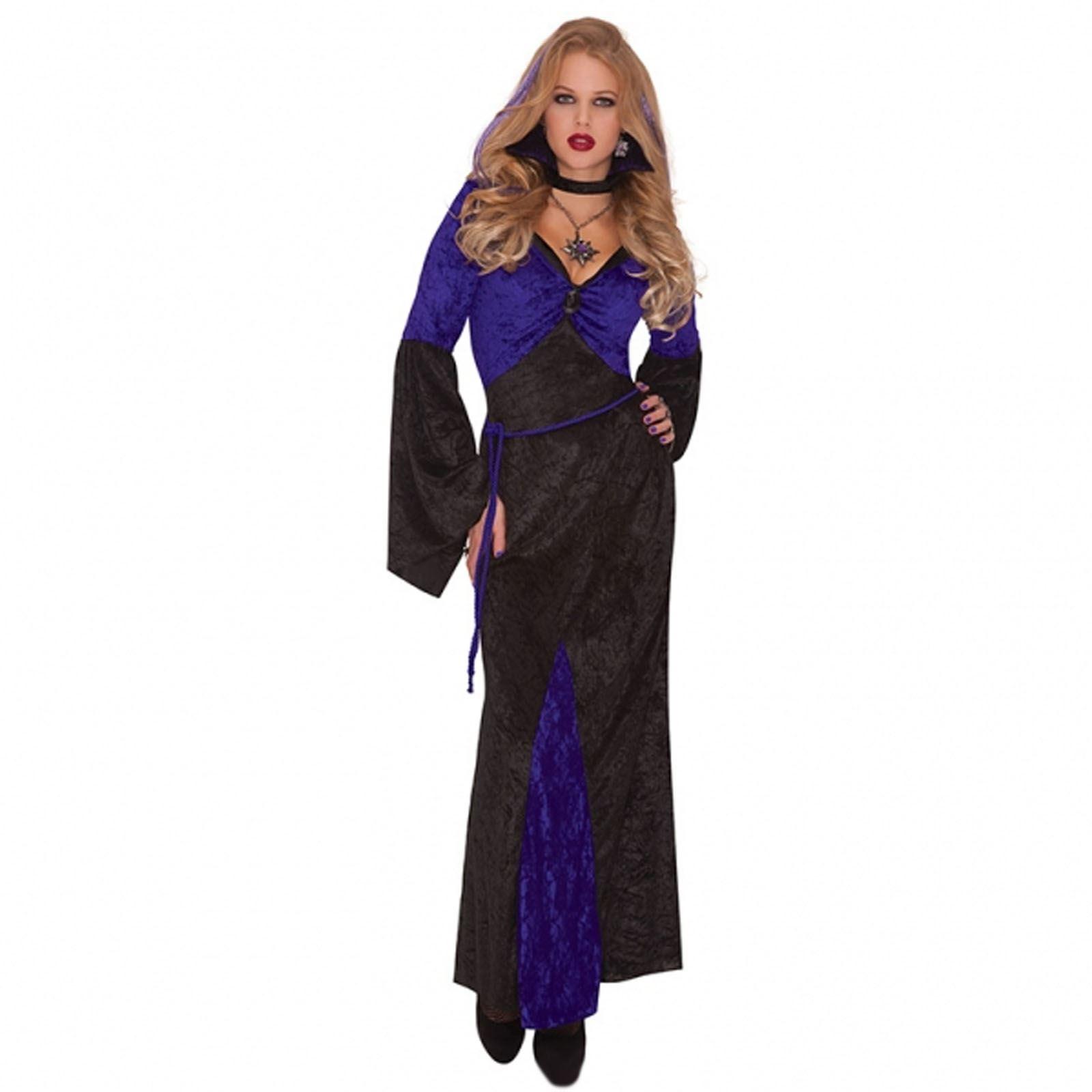 Adult/'s Ladies Vampire Queen Gothic Fairytale Halloween Fancy Dress Costume