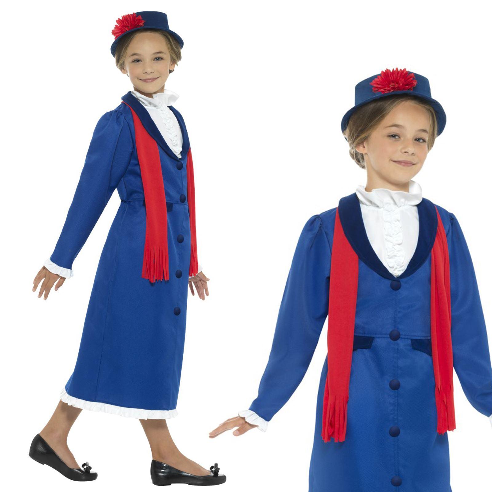 Donna MARY POPPINS Victorian Nanny costume Mondo Libro Settimana Vestito