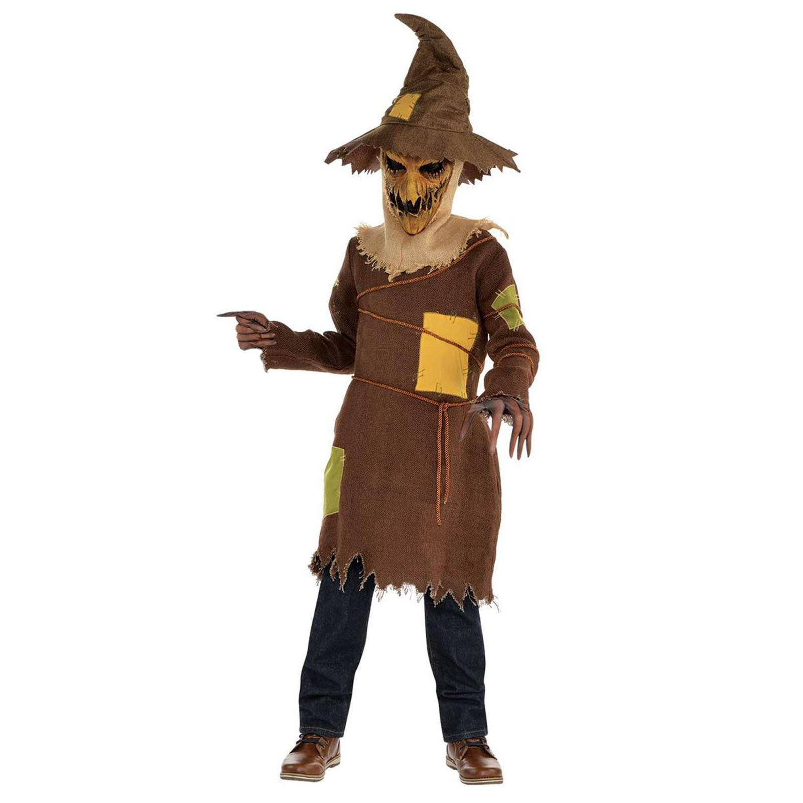 kids boys corn field scary horror pumpkin scarecrow costume wizard haunted oz
