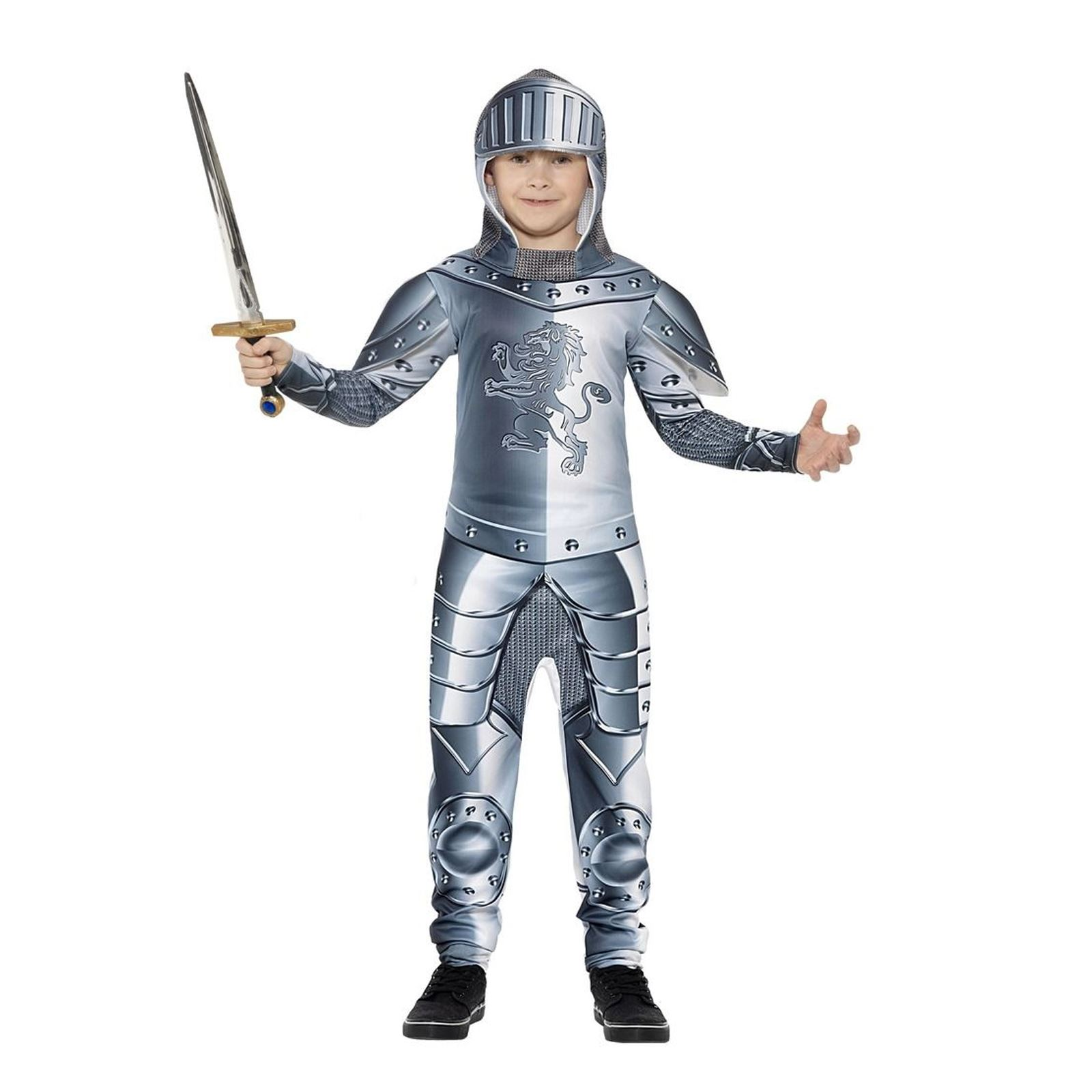 Boys Suit Of Armour Knight Fancy Dress Childs Medival