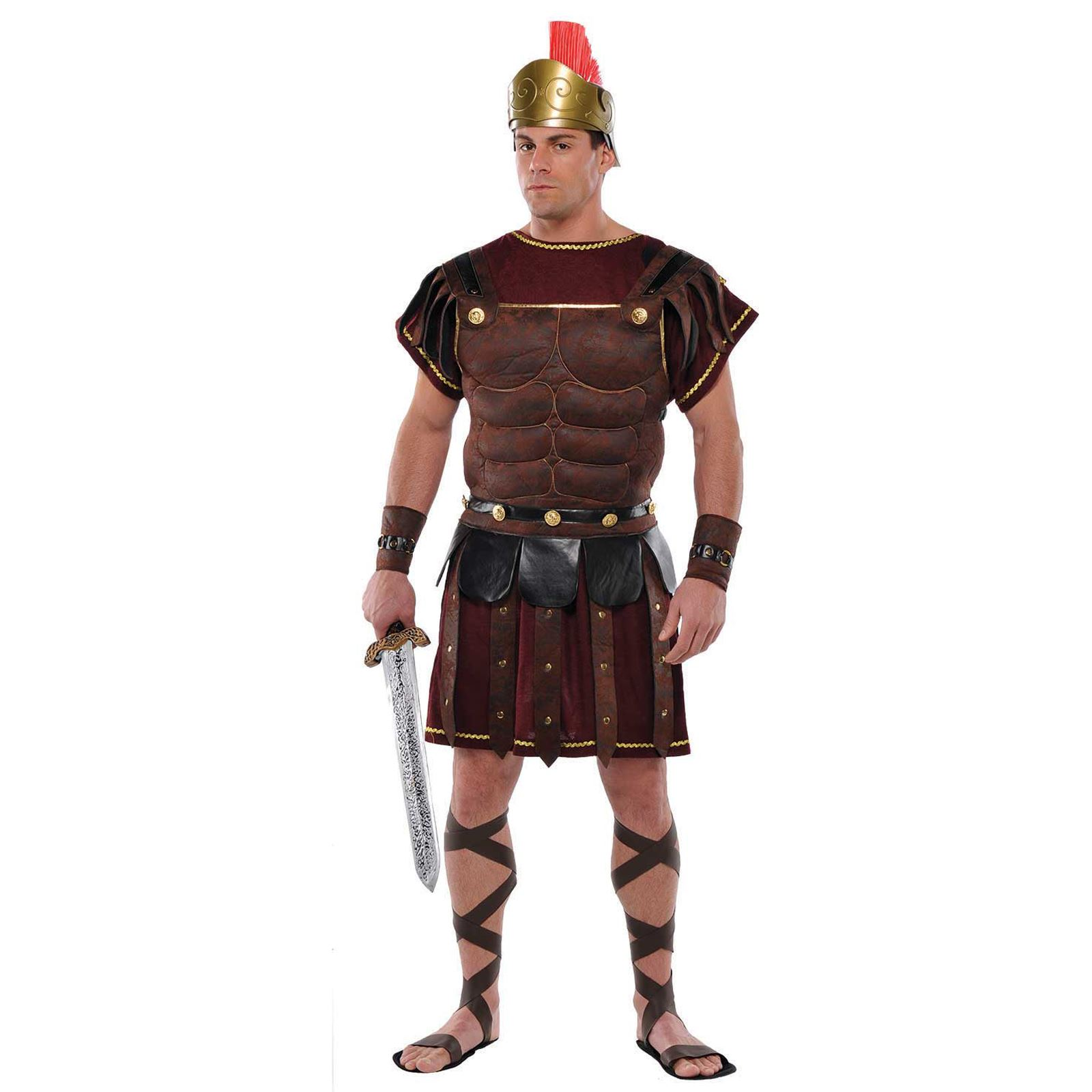 Adult-Mens-Ancient-Roman-Greek-Gladiator-Solider-Armour-Chest-Fancy-Dress-Outfit thumbnail 2