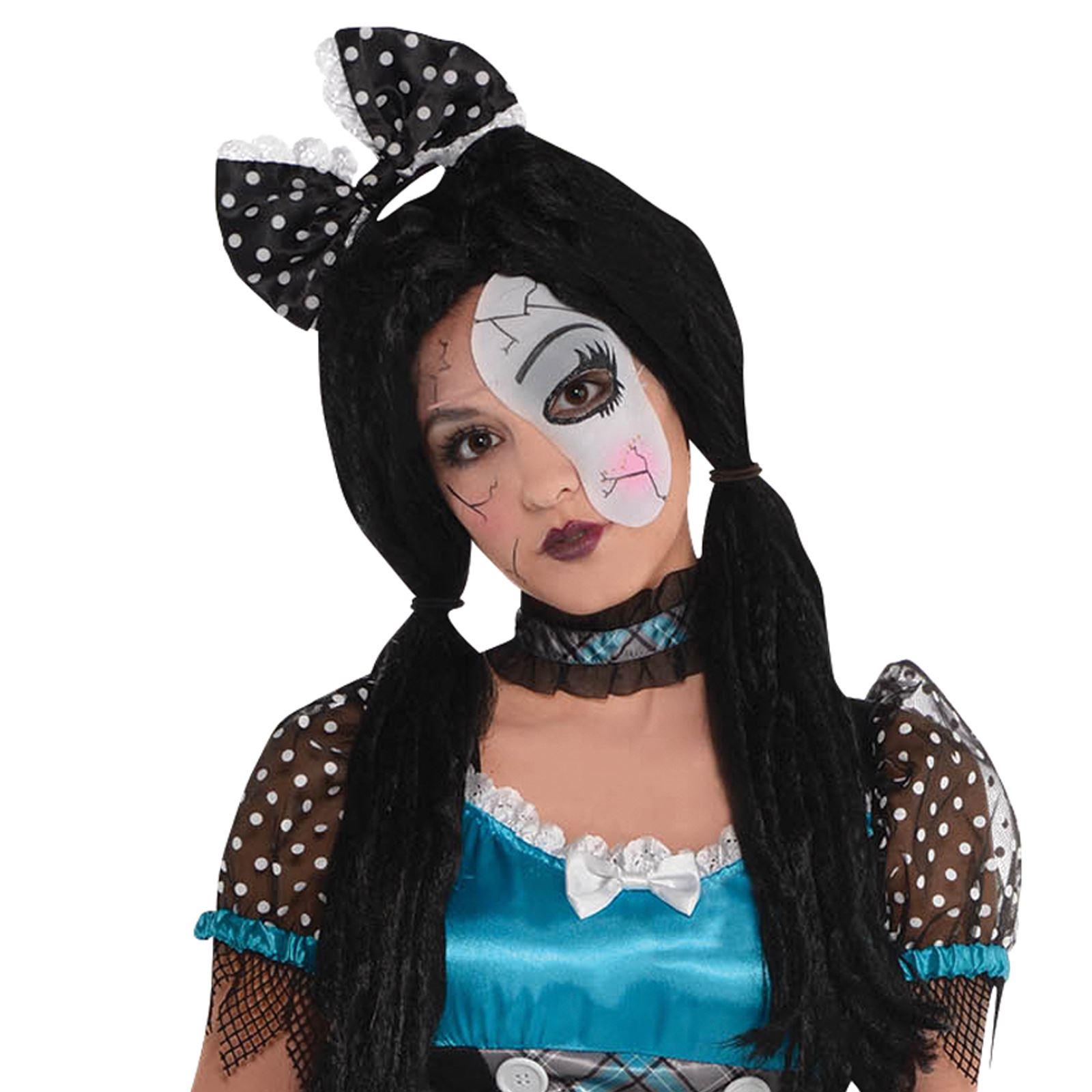 Teen Girls Shattered Doll Halloween Costume Broken Bell Zombie Anna Fancy Dress