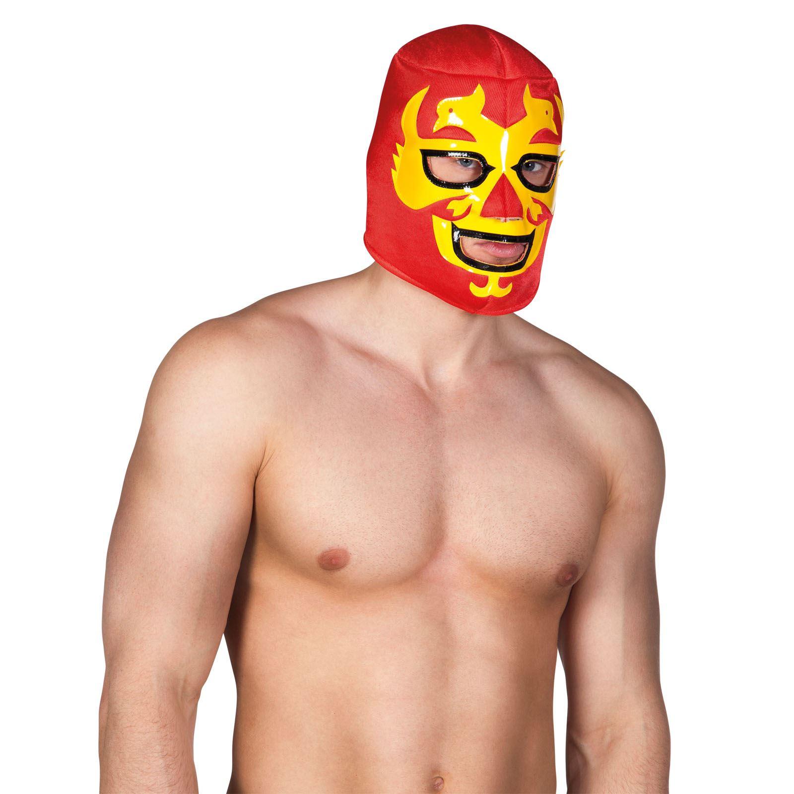 Adult-Mens-Mexican-Wrestler-Wrestling-Mask-WWE-Libre-Fight-Fancy-Dress-Accessory miniatuur 6