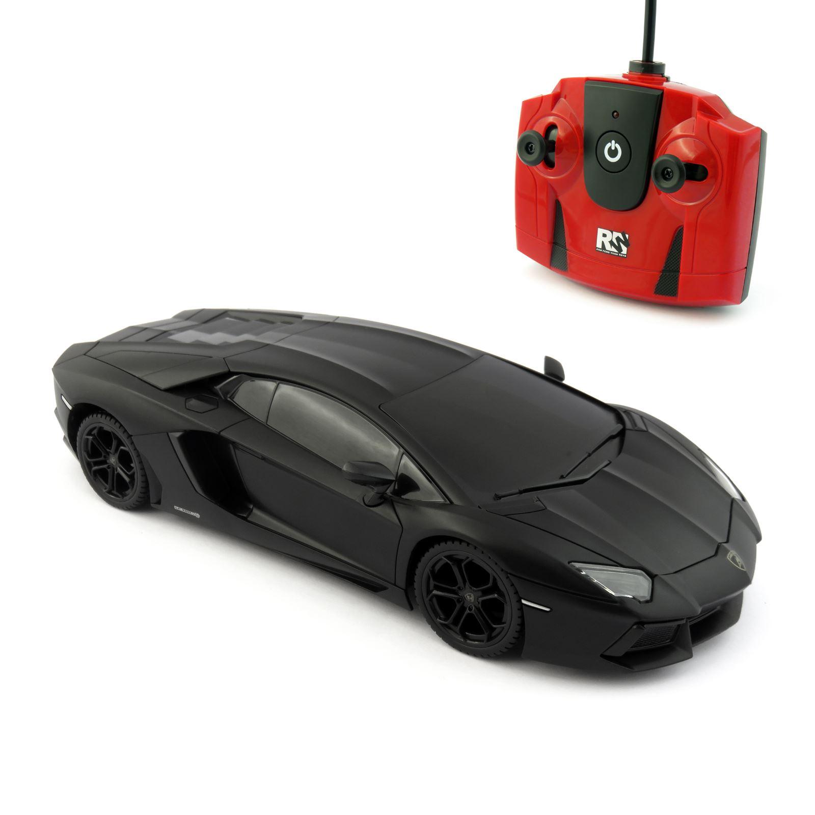 Lamborghini Aventador Matte Black Scale 1 24 Radio Remote