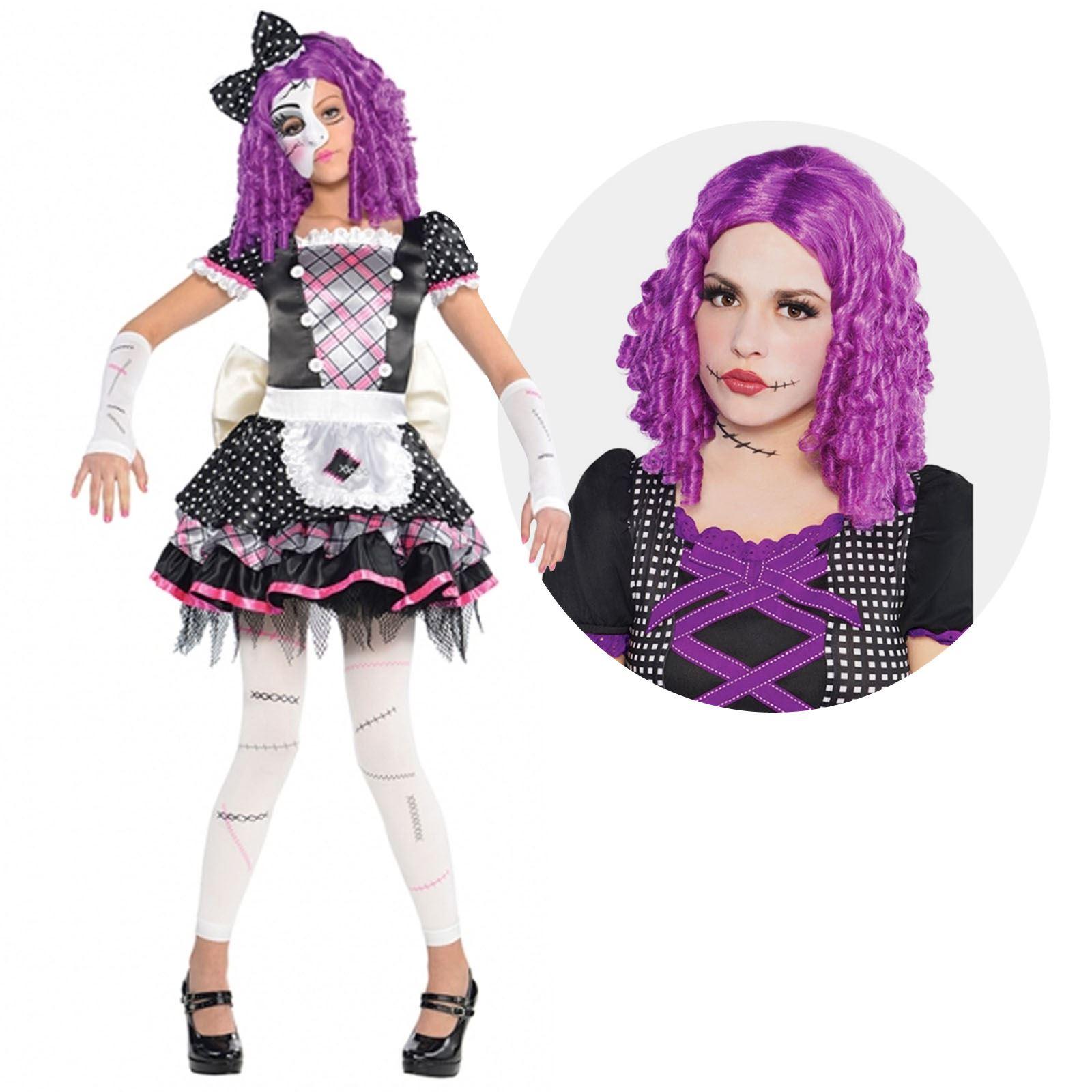girl damaged doll sally nightmare monster fancy dress halloween