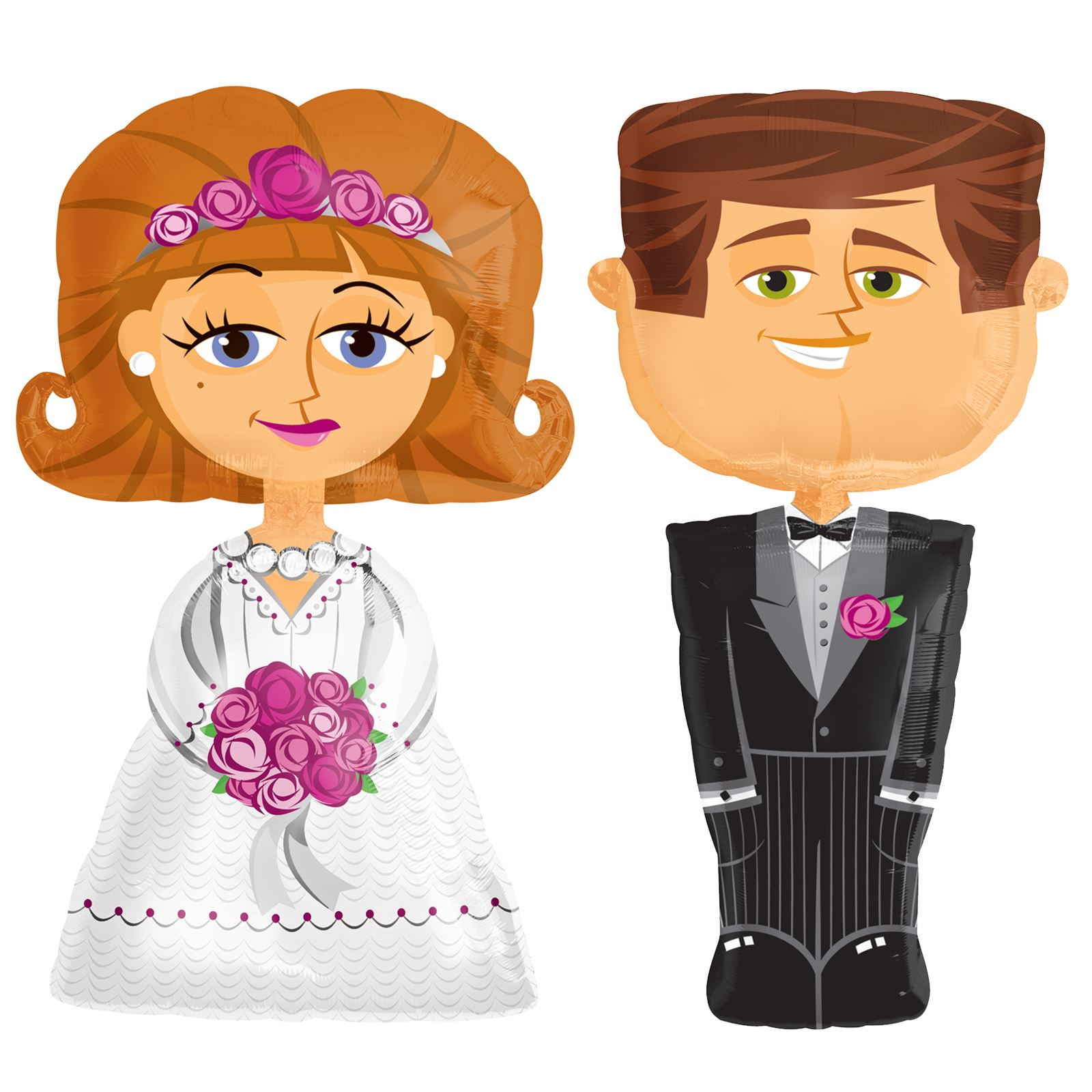 "Airwalkers Wedding Groom Anagram XL 50/"" x 26/"" Helium Foil Balloon New"