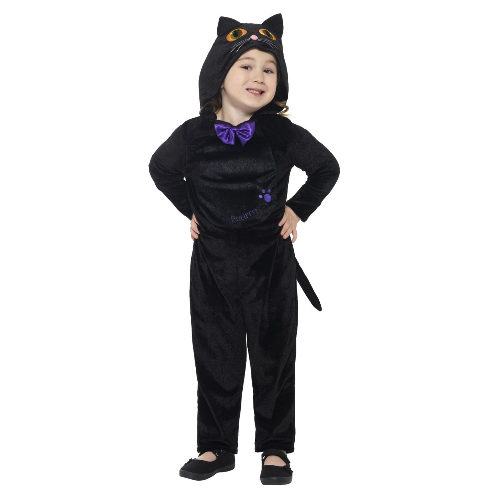 tout petits mignon chat noir halloween costume combinaison animaux enfant ebay. Black Bedroom Furniture Sets. Home Design Ideas