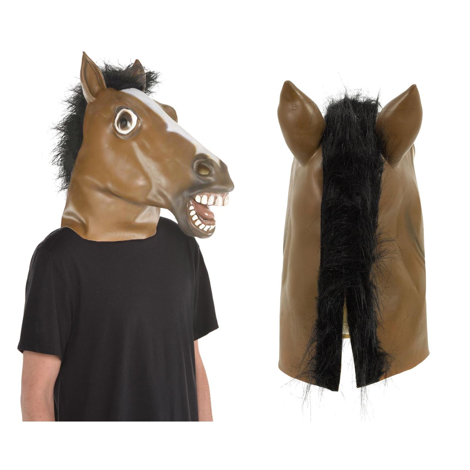 Goods /& Gadgets Masque de cheval en latex pour carnaval ou Halloween