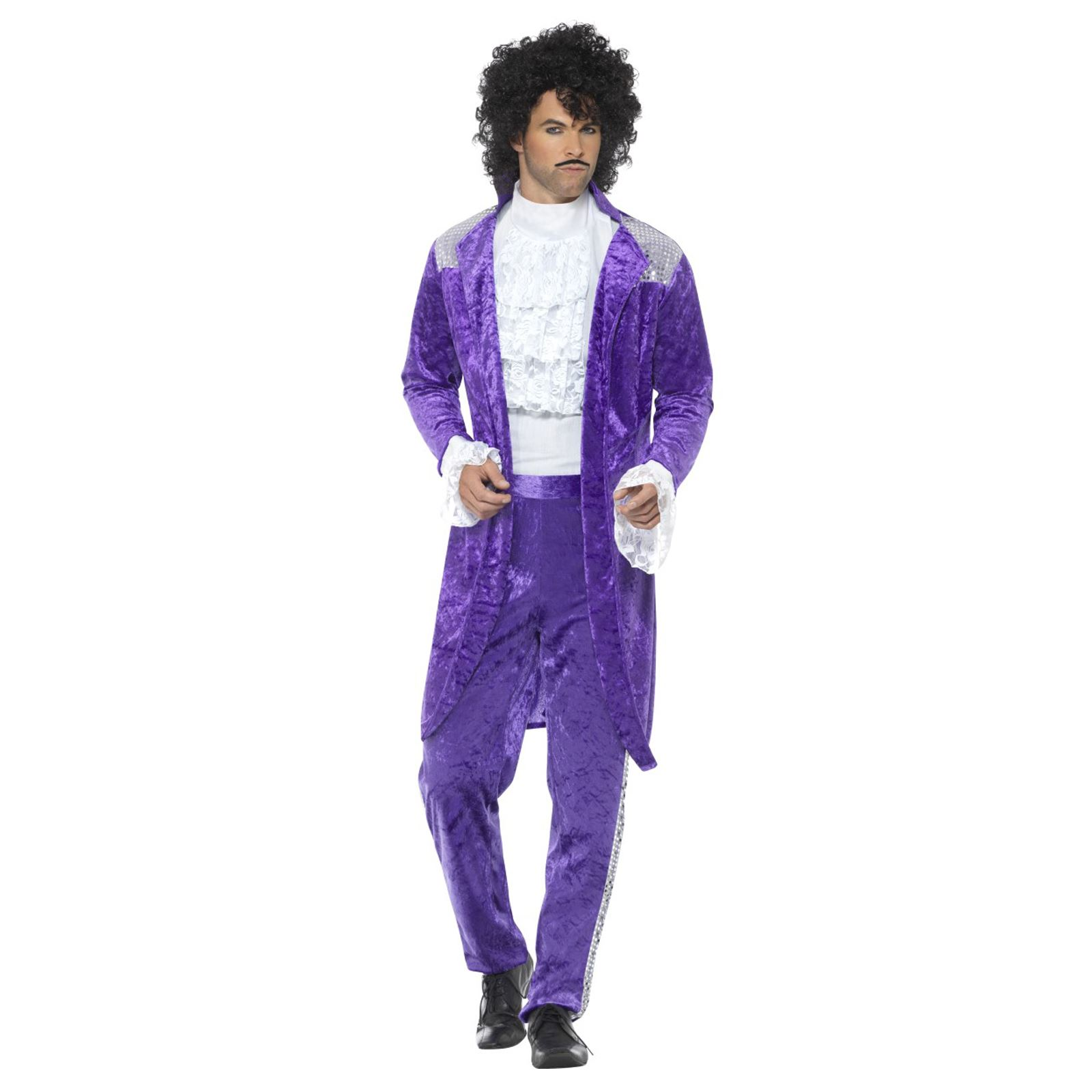 9141f1ee331063 80s Mens Purple Musician Prince Queen Suit Jacket Trousers Fancy ...