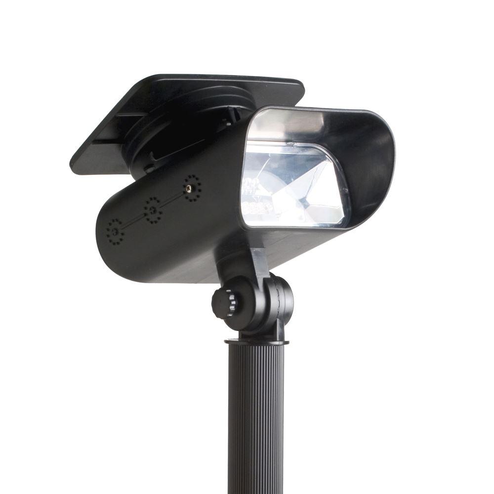 Quality Solar Wall Lights : Quality Solar Powered Garden LED Spotlight Spot Light Deck Wall Stake Mounting eBay