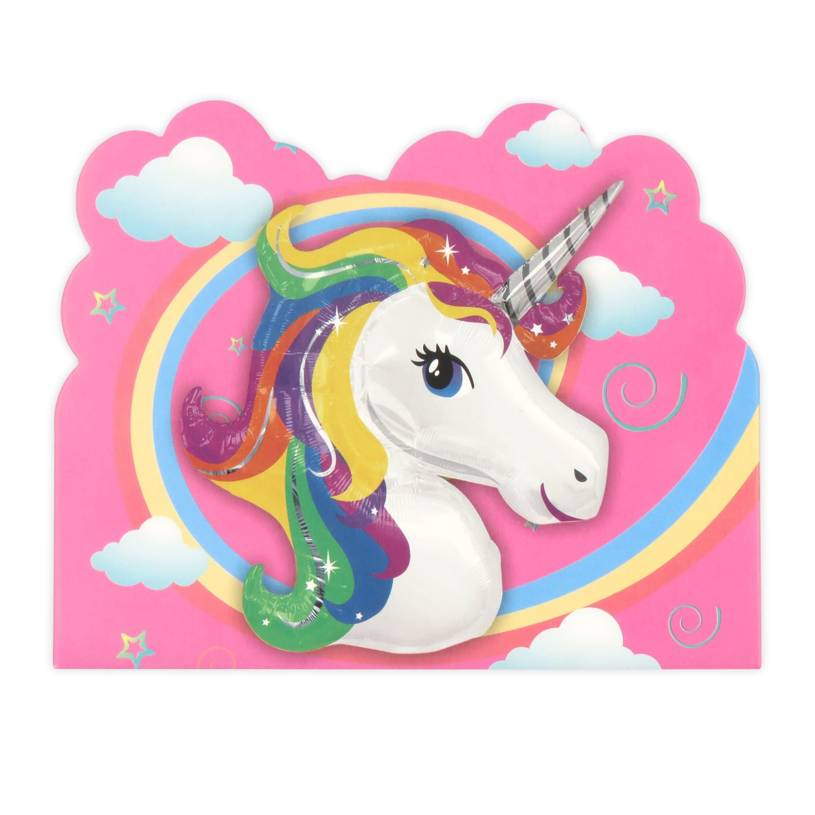 Colourful Rainbow Unicorn Card Invitations Girls Childrens Birthday