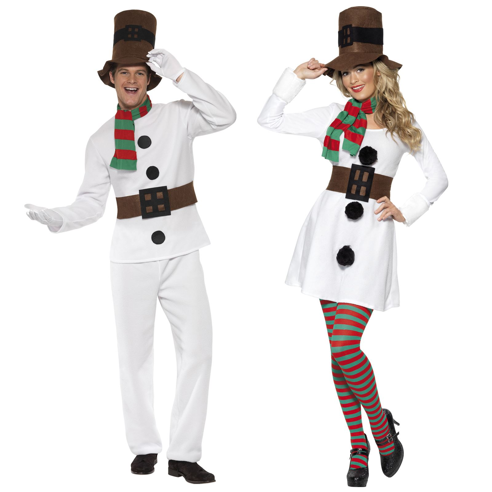 mr mrs snowman frosty christmas fancy dress costume couple