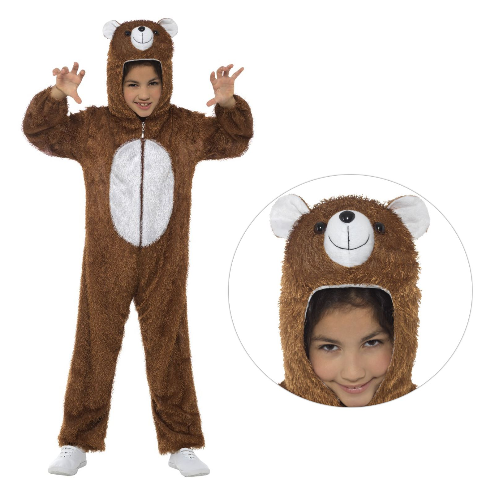 Kids Boys Girls Wild Animal Zoo Safari Jungle Jumpsuit Fancy Dress Book Costume