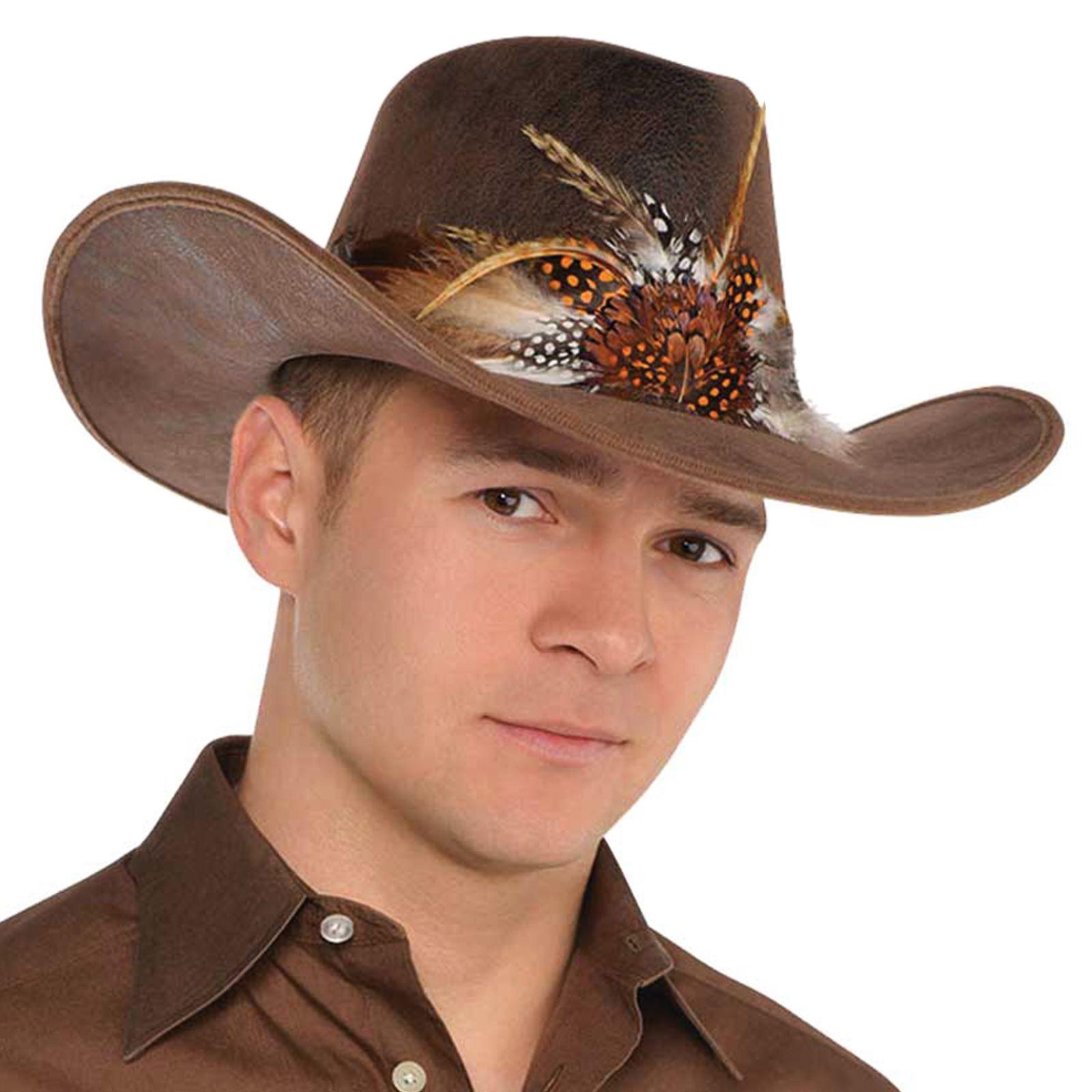 Adulto SALVAJE OESTE VAQUERO VAQUERA Sombrero rodeo Salón Accesorio ... ede45ee8fdf