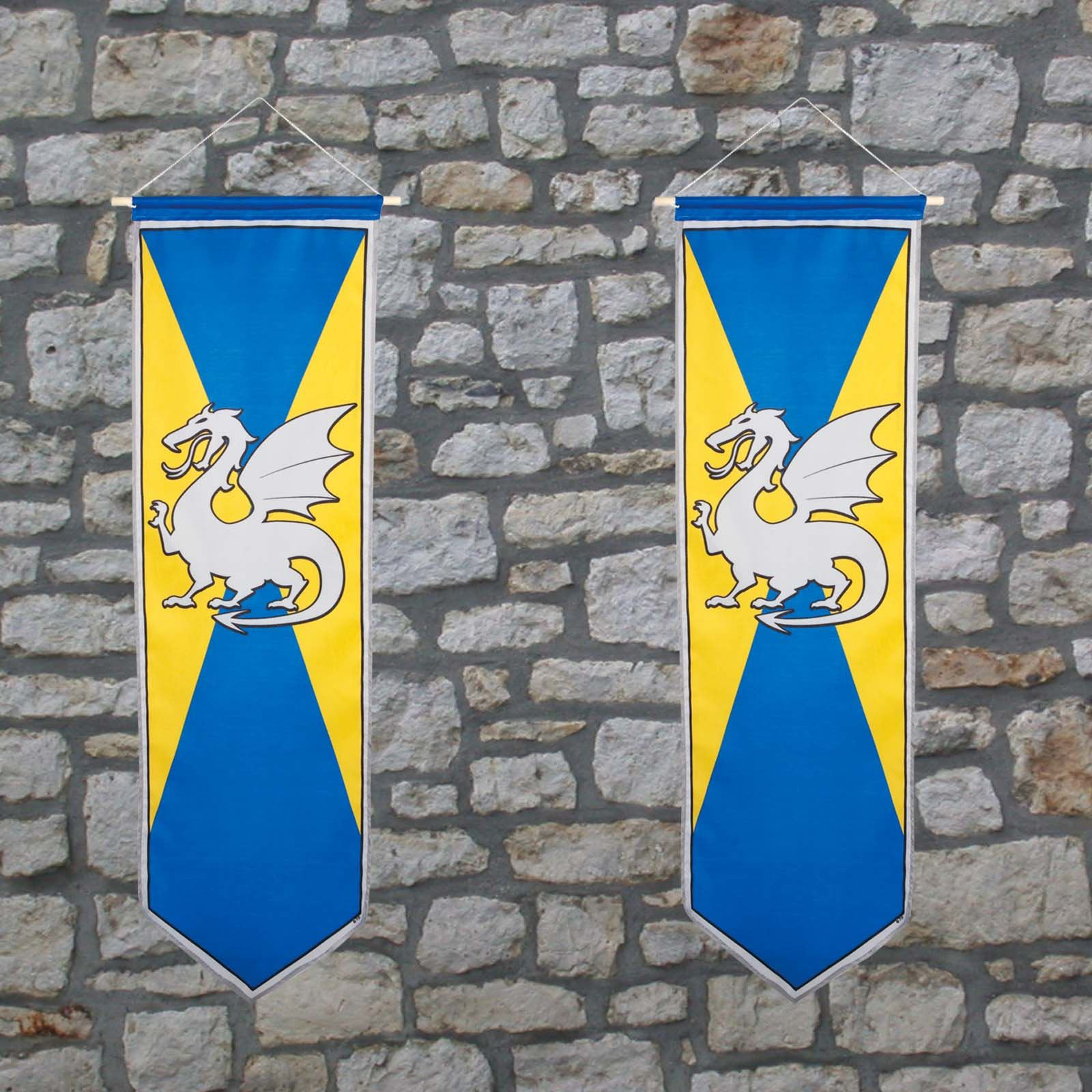 Medieval Knights And Dragons Banner Medieval Dragon Party