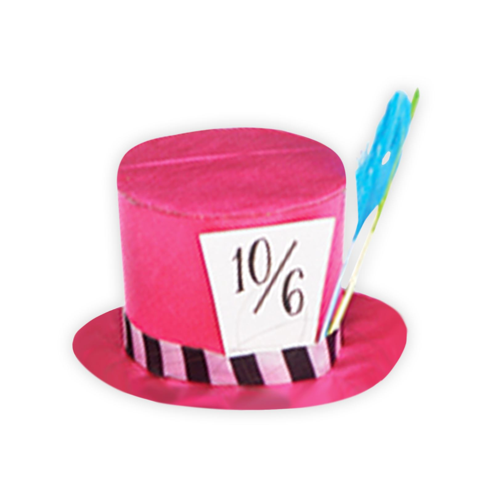 Mini Mad Hatter Hat Pink Tea Time Alice In Wonderland Photo Booth