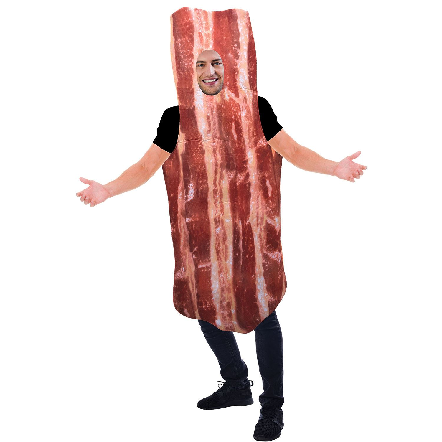 BACON SUIT ADULT COMICAL HALLOWEEN COSTUME MEN/'S SIZE STANDARD
