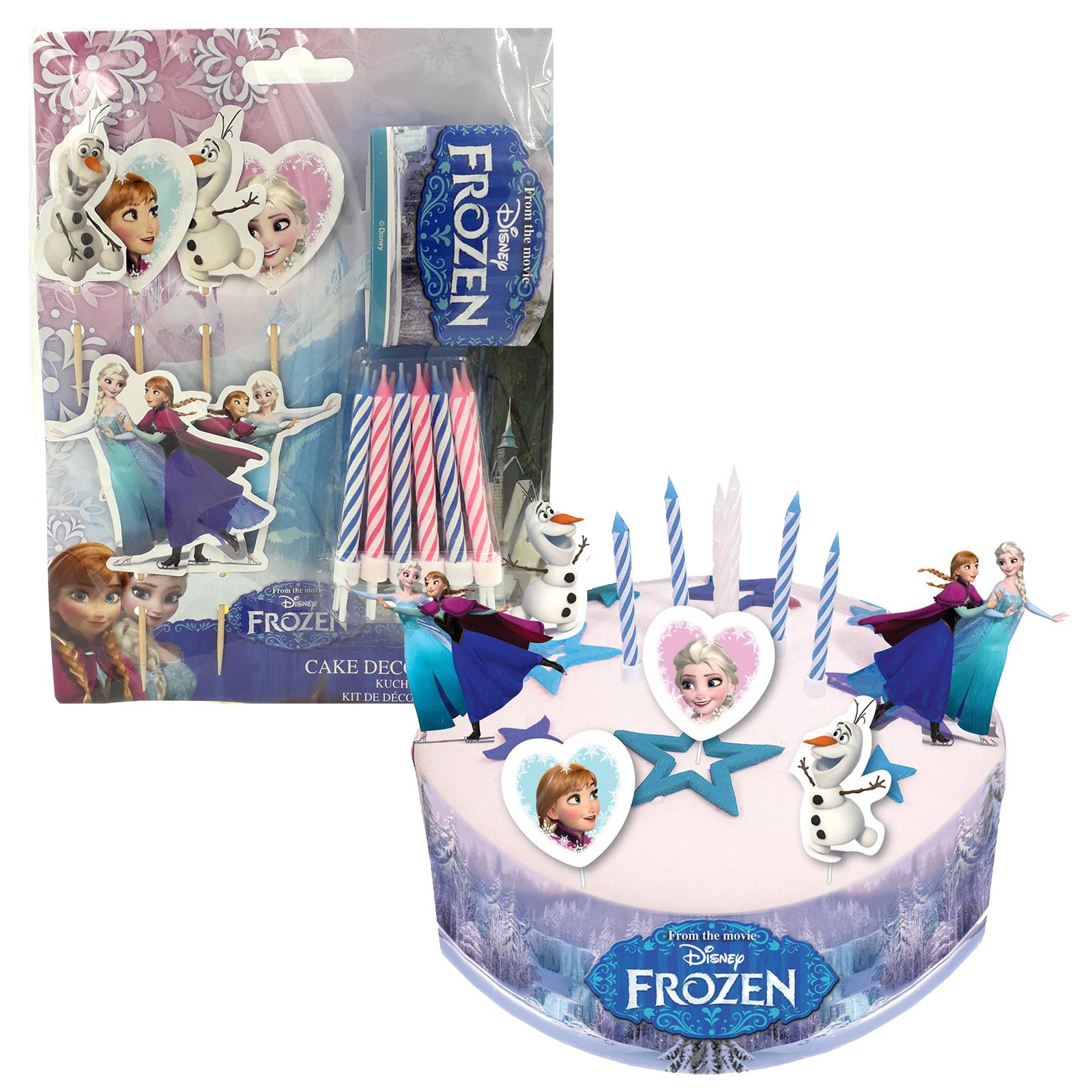 Amazing Official Disneys Frozen Birthday Cake Decorating Kit Candles Elsa Birthday Cards Printable Opercafe Filternl