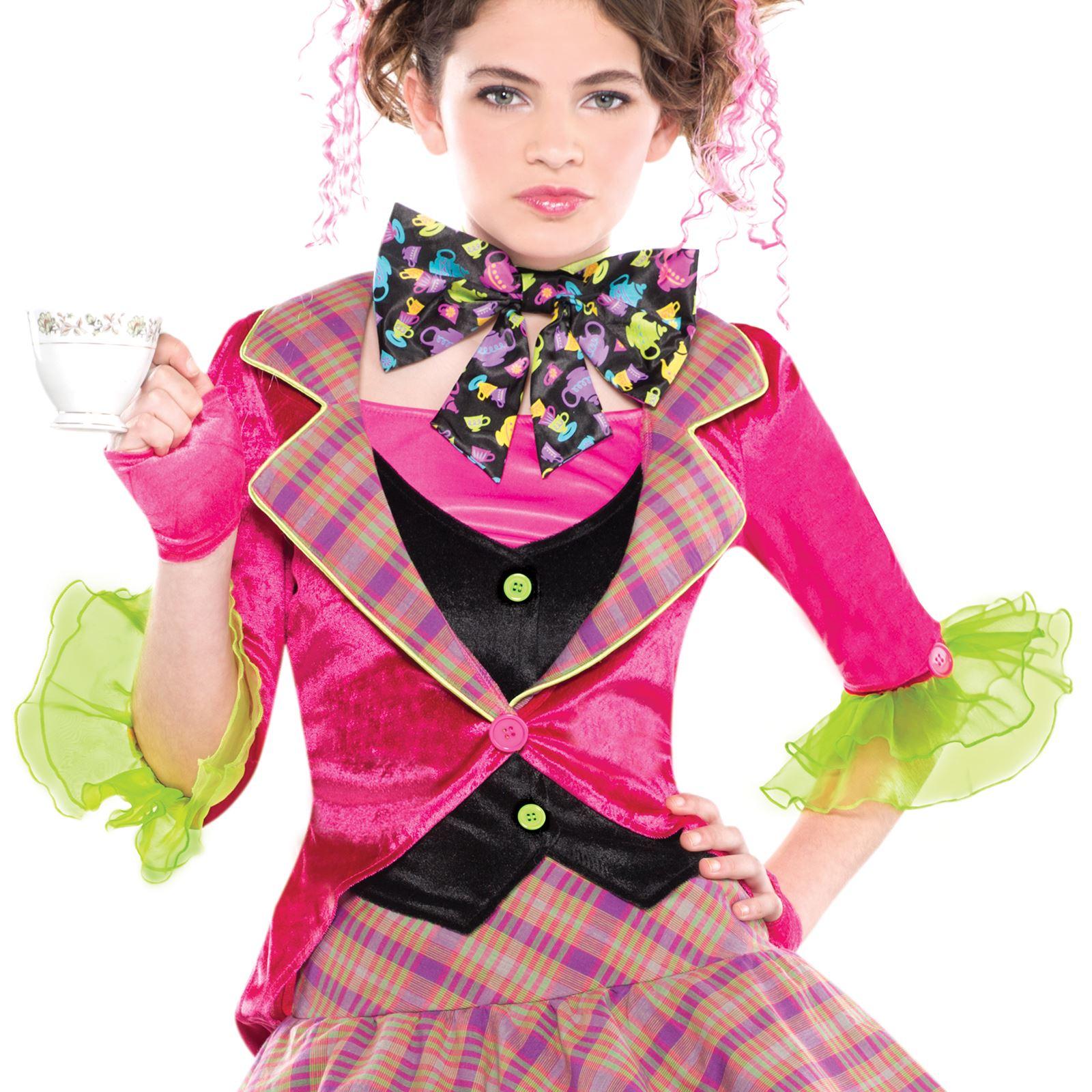 Girls Teen Mad Hatter Fairytale Story Book Fancy Dress Costume + ...