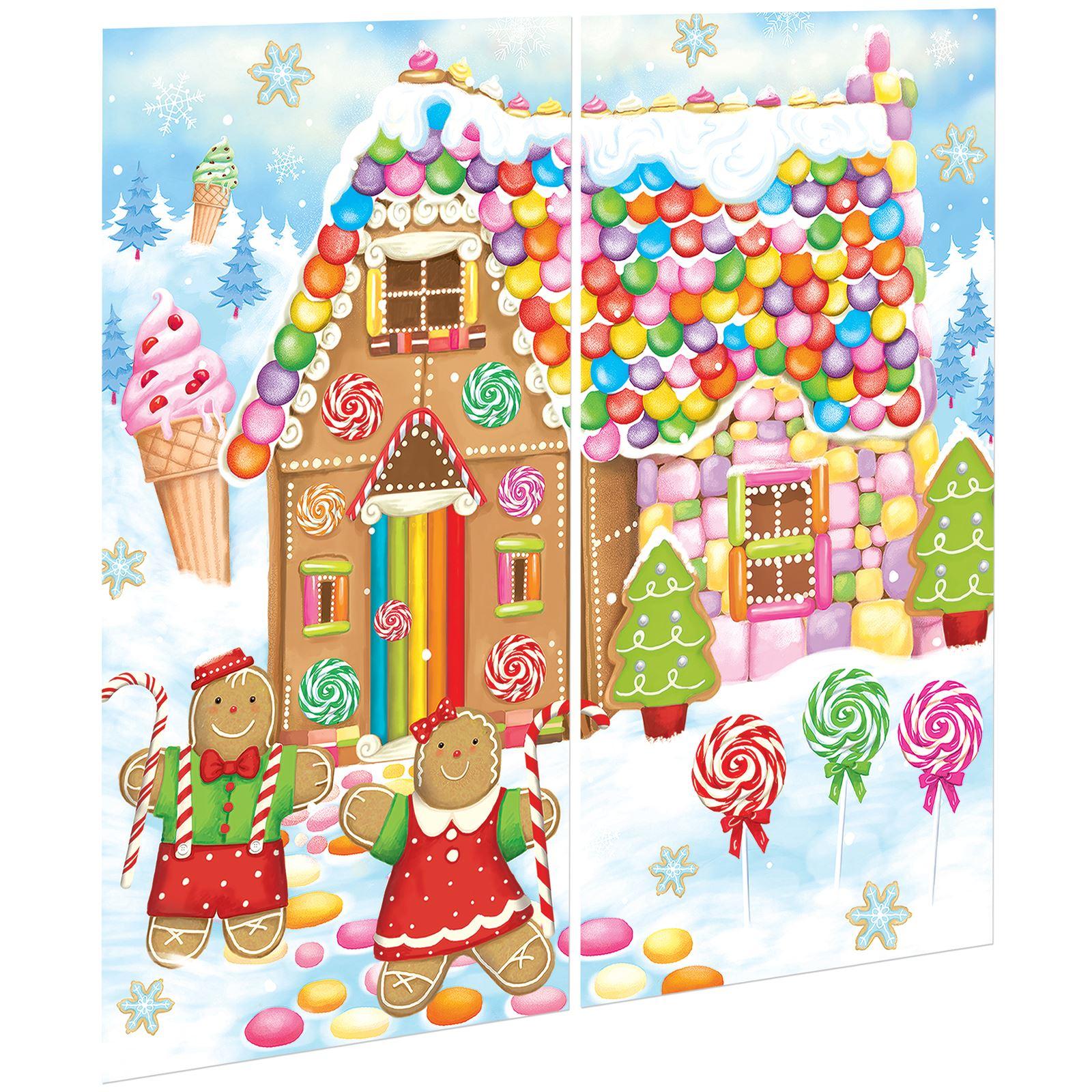 Christmas Scene Setters Australia.Details About Christmas Gingerbread Sweet House Candy Holiday Hansel Gretel Vinyl Scene Setter