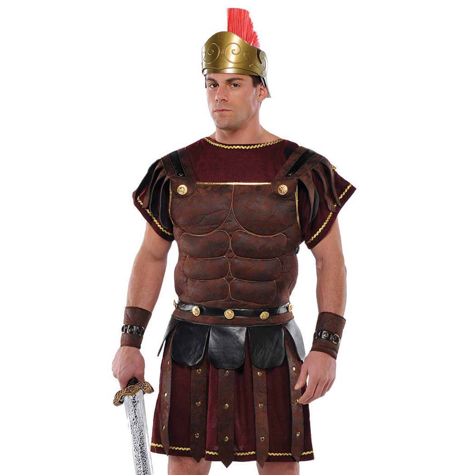 Adult-Mens-Ancient-Roman-Greek-Gladiator-Solider-Armour-Chest-Fancy-Dress-Outfit thumbnail 3