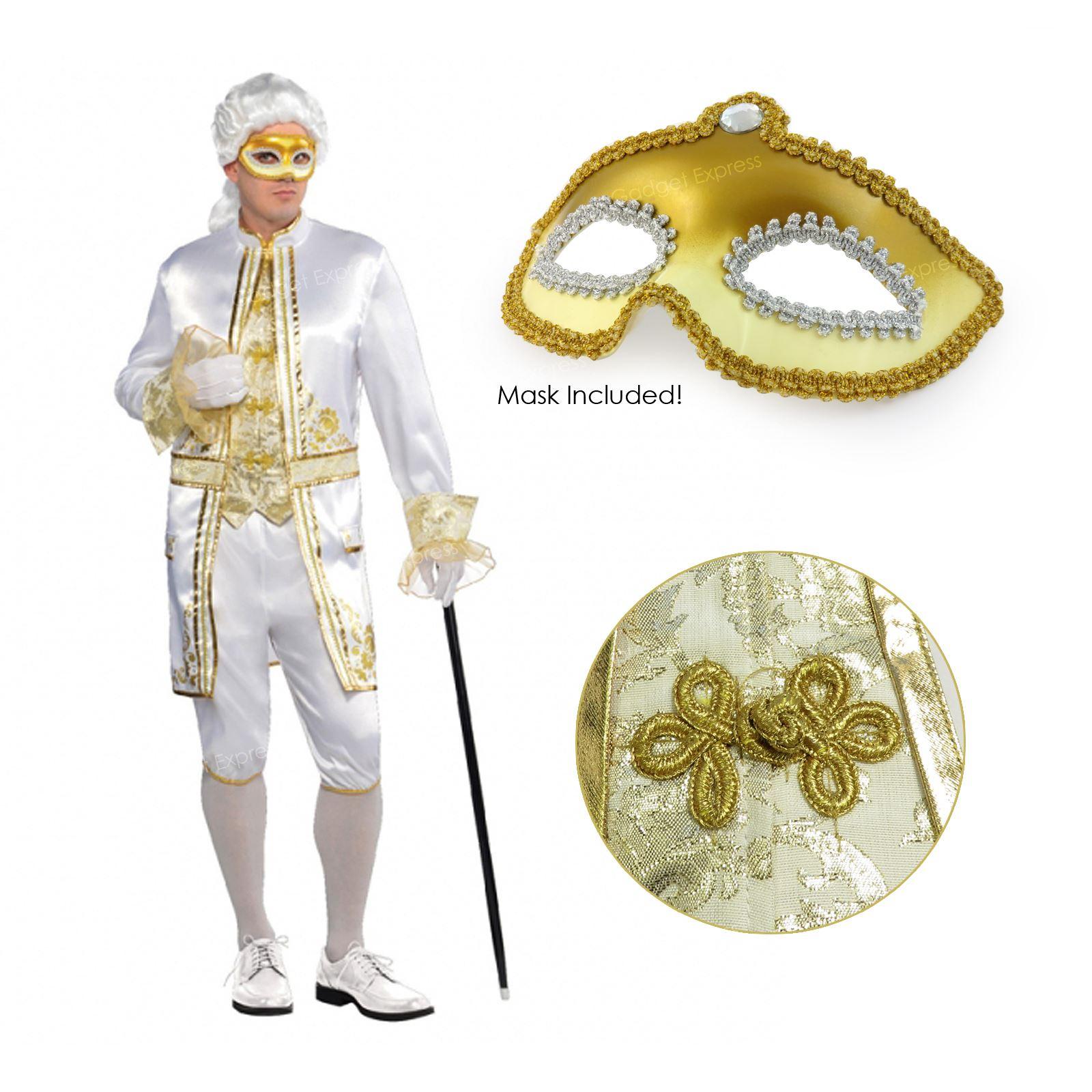 Adult Mens Casanova Renaissance Masquerade Venetian Fancy Dress Costume Mask