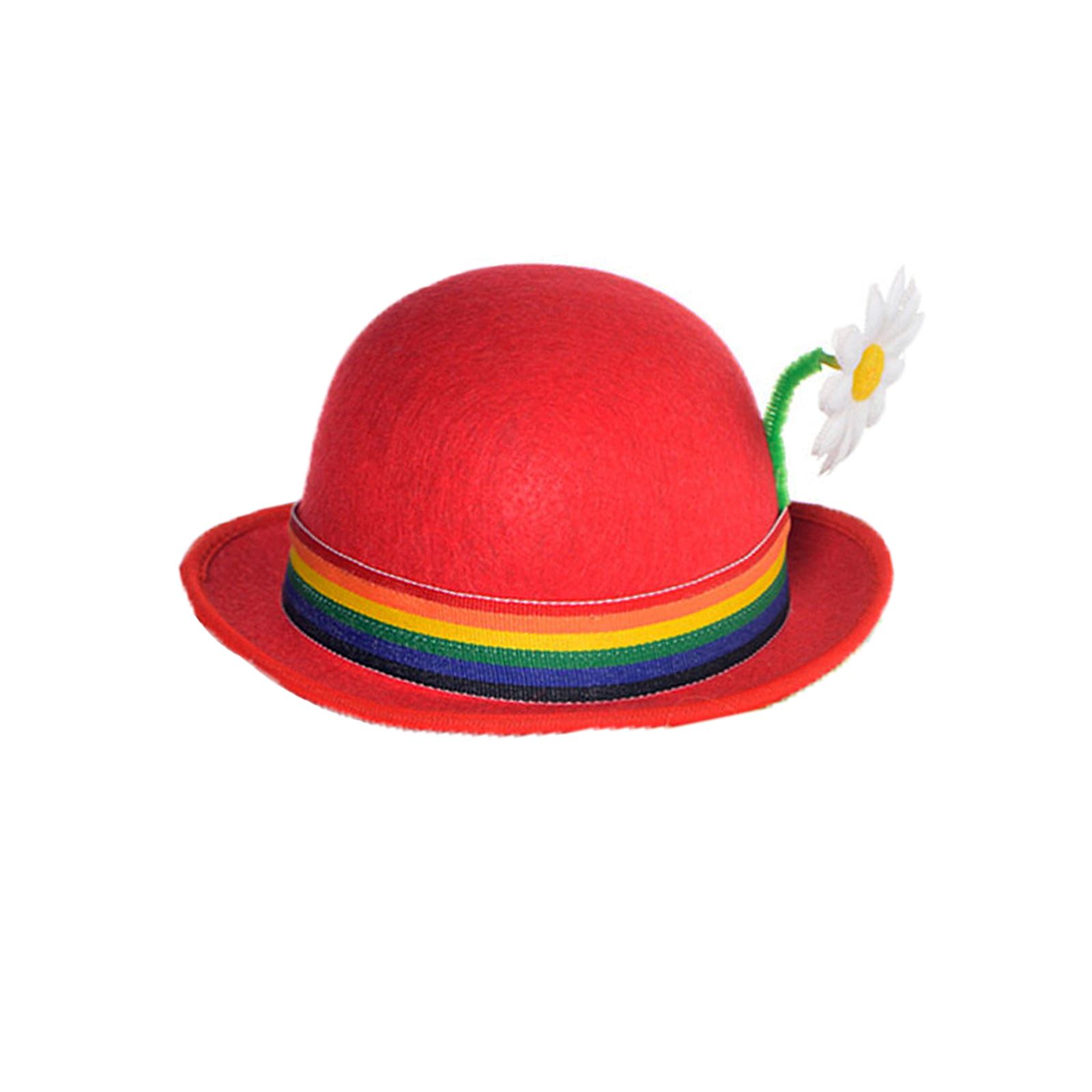 Funny Hat Caps Beanies Skullies Fedoras Berets Dress: Adults Mens Womens Circus Clown Funny Derby Mini Hat Stag