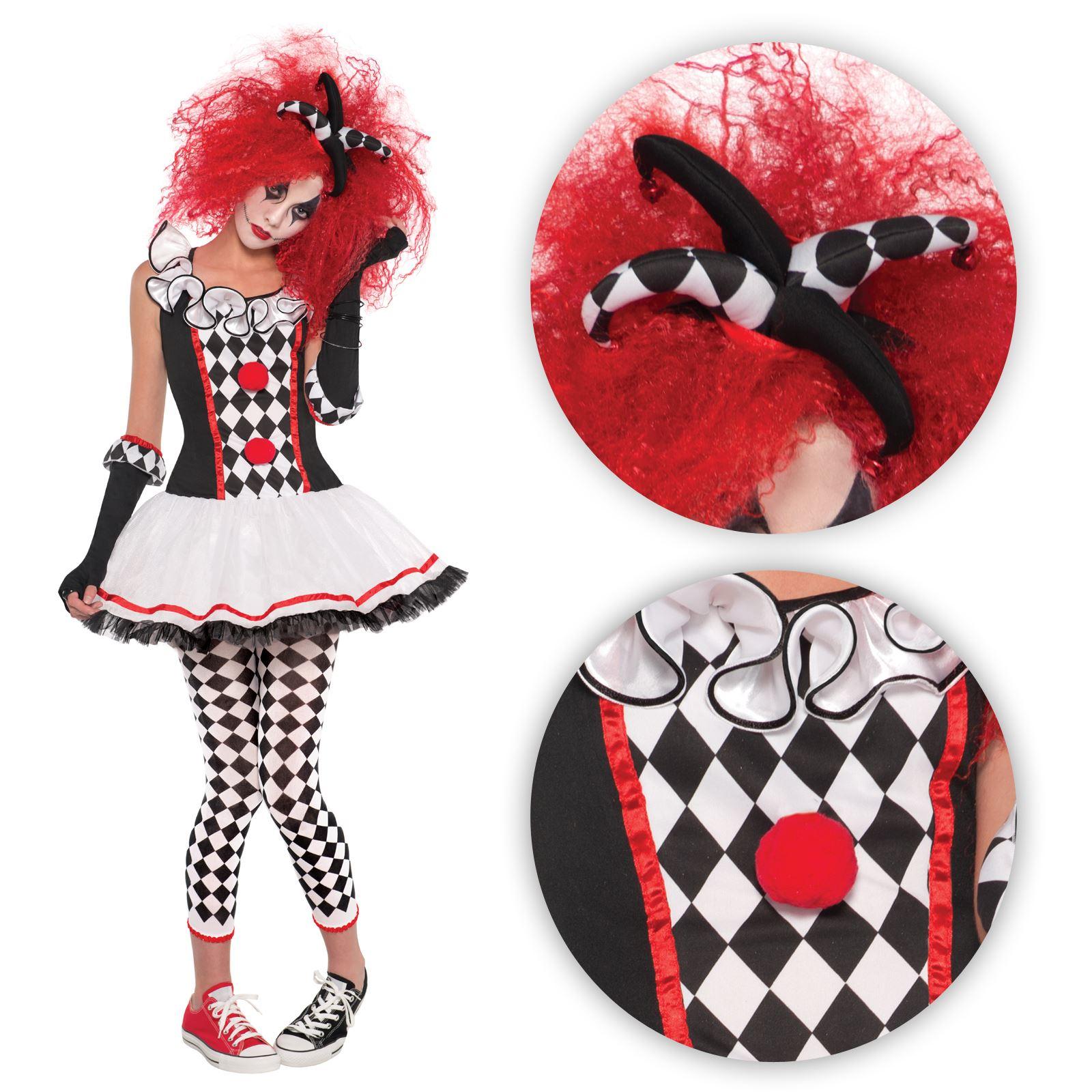 Harlequin Tights NOIR//BLANC Médiéval Bouffon Clown Fancy Dress