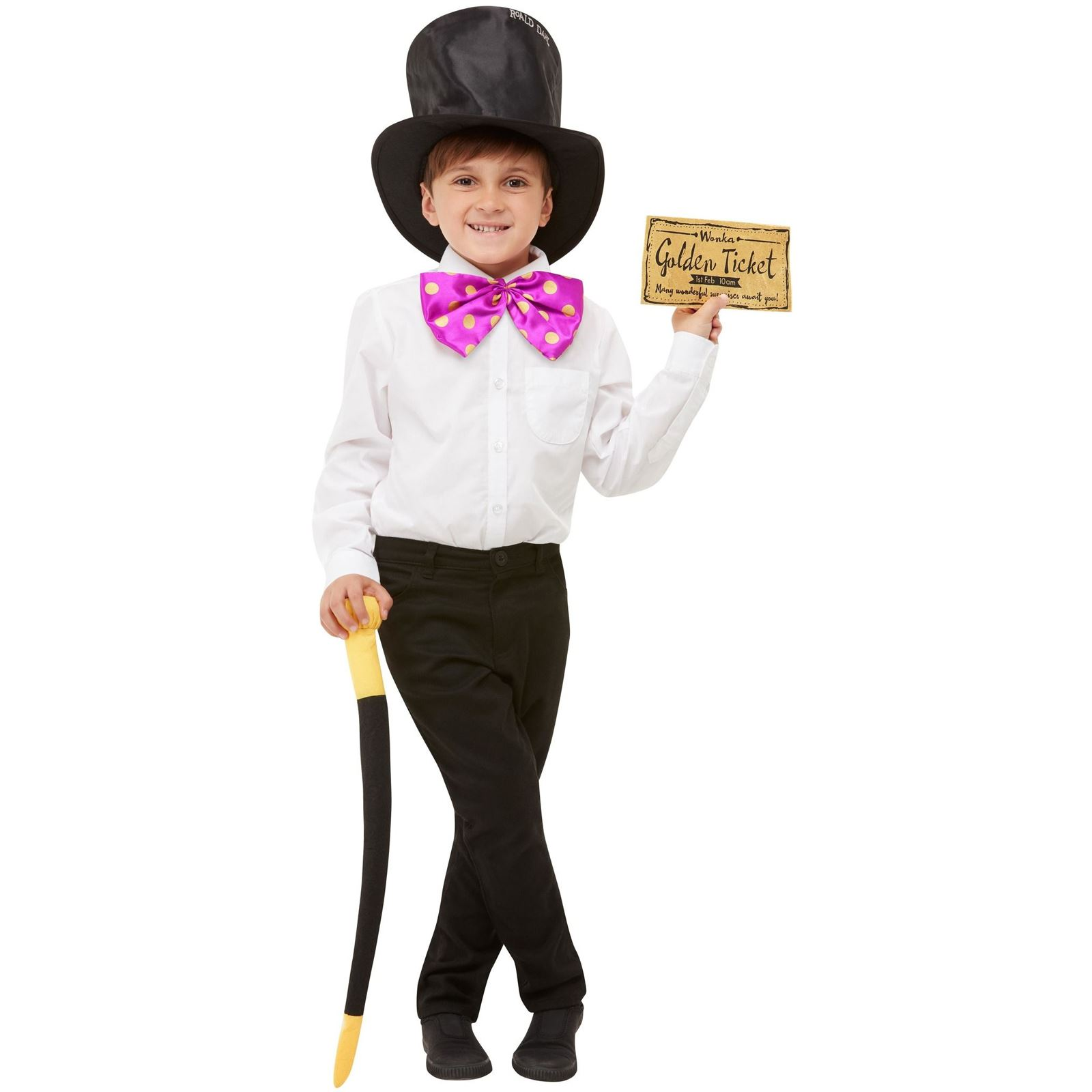 BOYS CHOCOLATE FACTORY COSTUME WILLY WONKA FANCY WORLD BOOK DAY WEEK OUTFIT 4-12