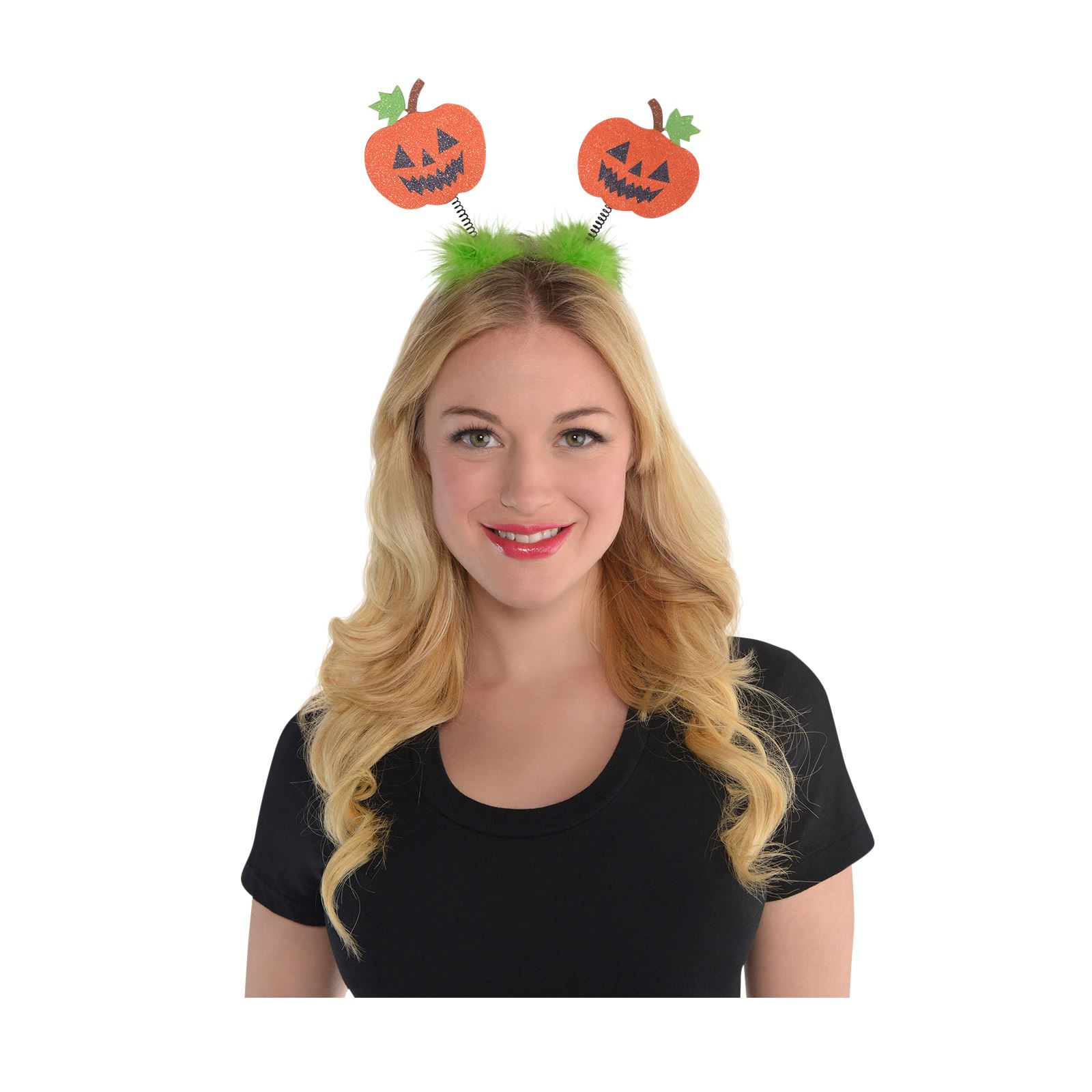 Kinder Erwachsene Halloween Glitzer Pumpkin headbopper Stirnband ...