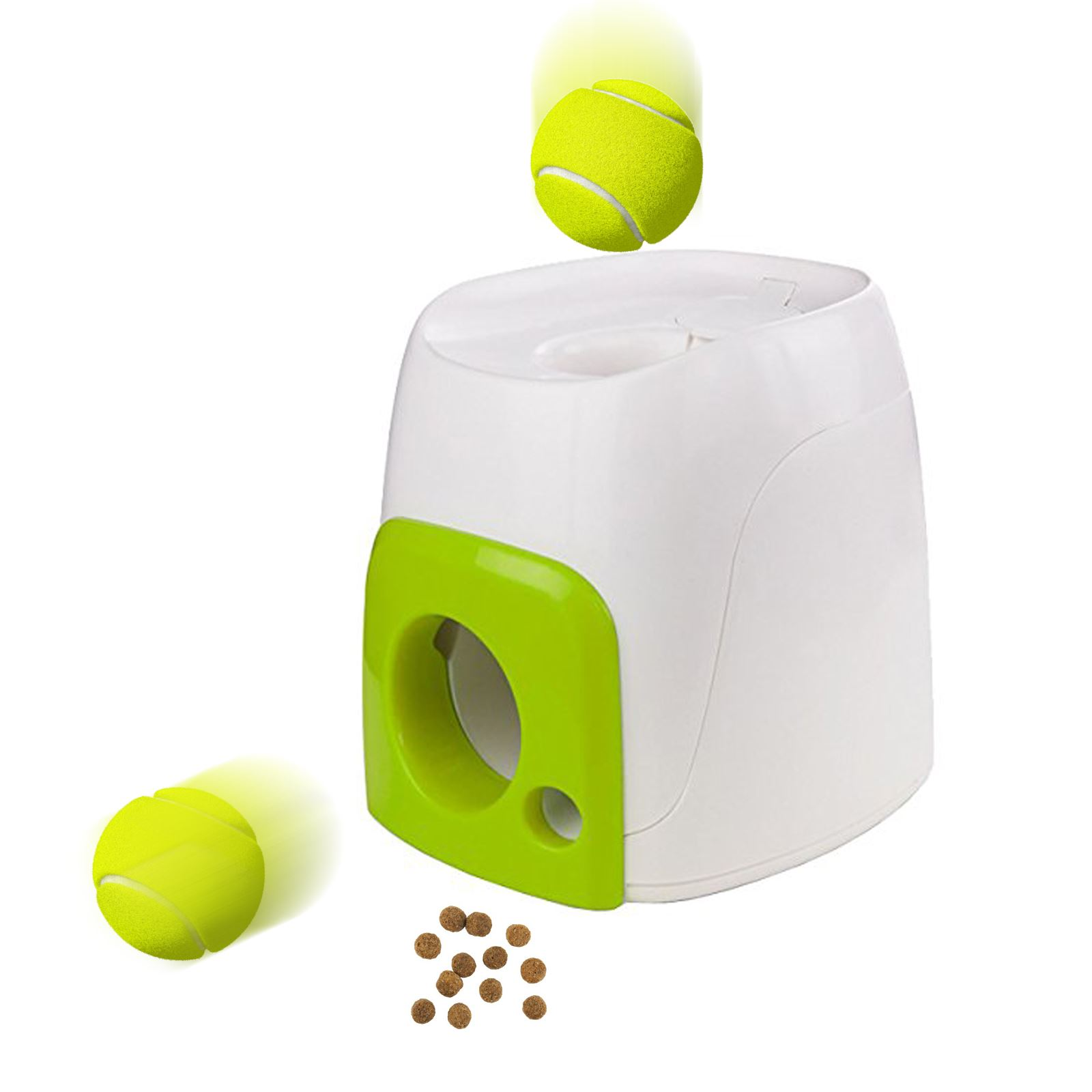 Tennis Ball Launcher >> All for Paws Interactive Dog Fetch N Treat Dispenser Trainer Ball Toy Play Game | eBay