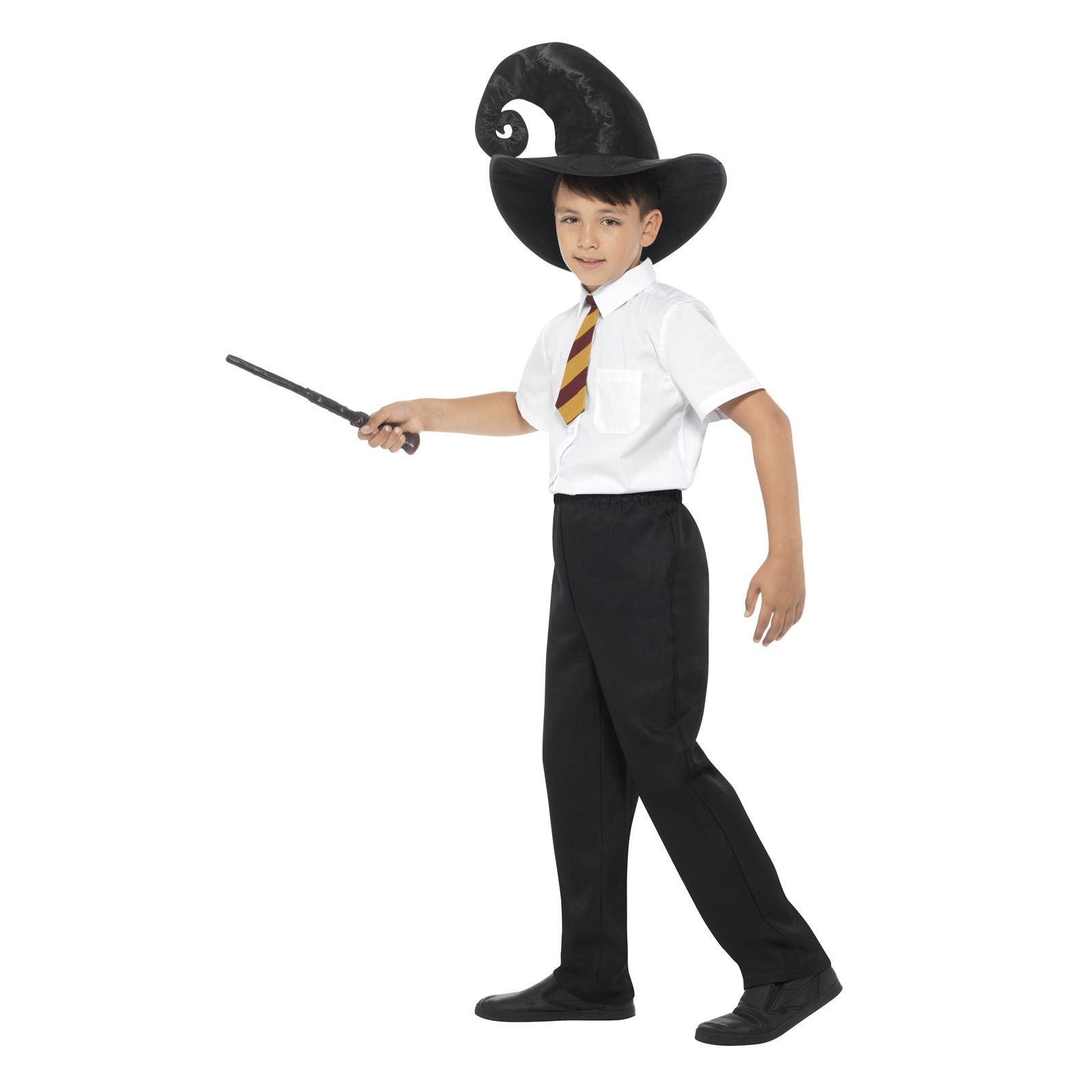 bambini ragazzi strega mago Harry MAGICI COSTUME FESTA DEL LIBRO Kit ... 42dc0944e94b