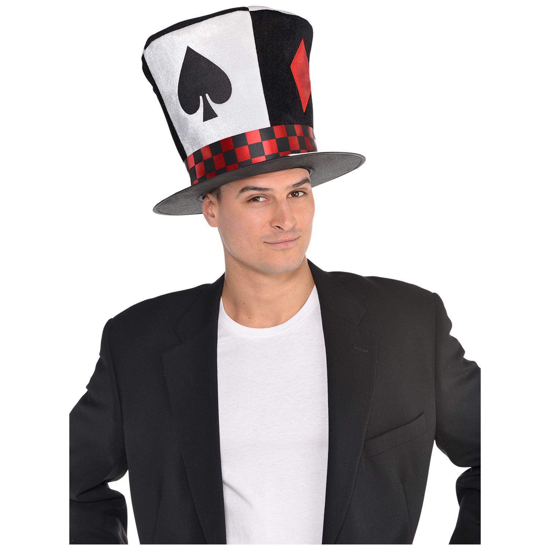 Erwachsene Herren Poker Ace Verrückter Hutmacher Wunderland Hut ...