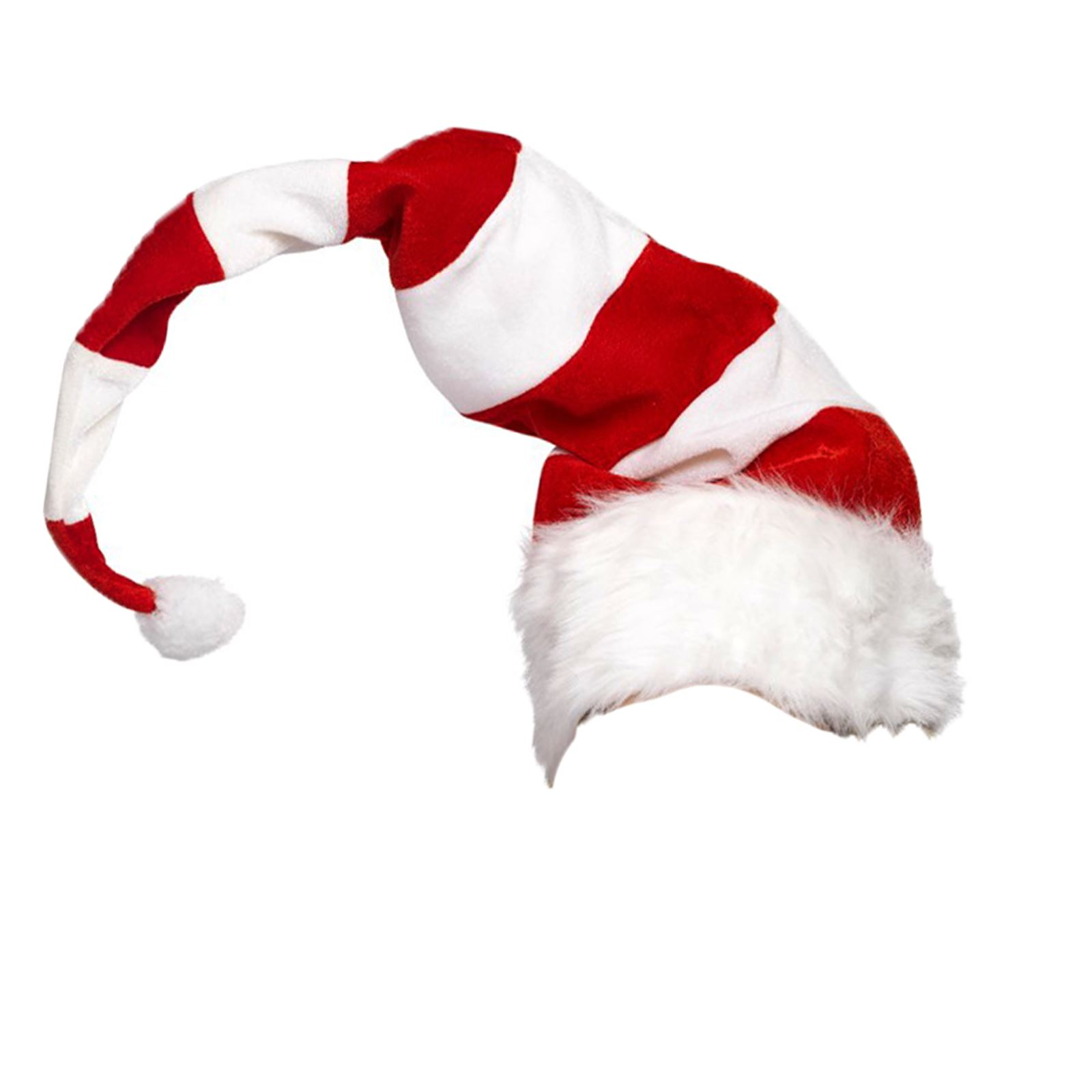 471c2f4640e90 Adults Unisex Red Striped Santa Mrs Claus Clown Jester Hat Fancy ...