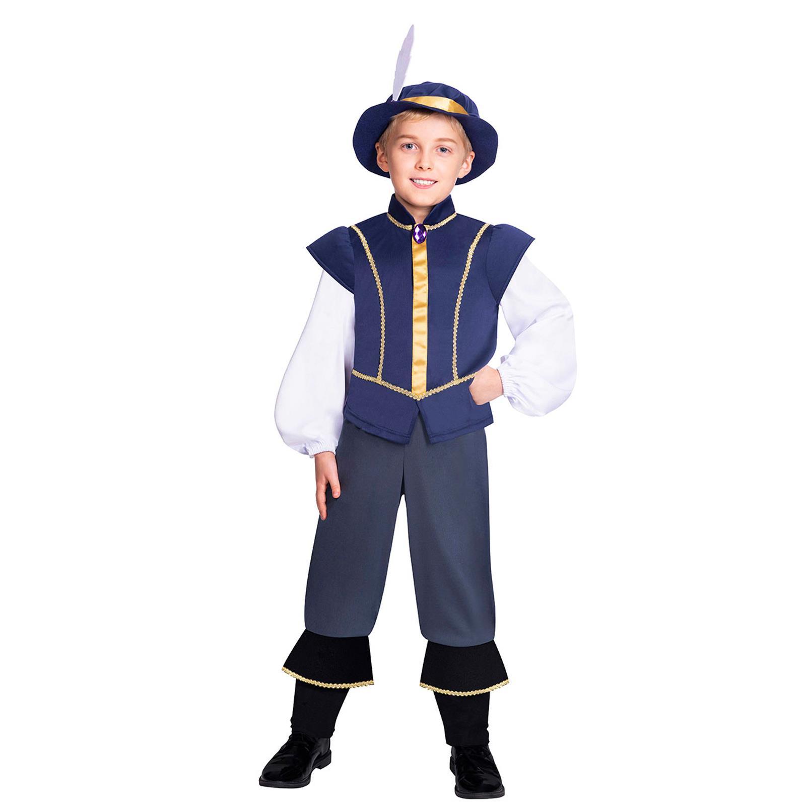 Garçons HORRIBLE HISTORIES Henry VIII 8th Costume Déguisement Livre Médiéval Tudor