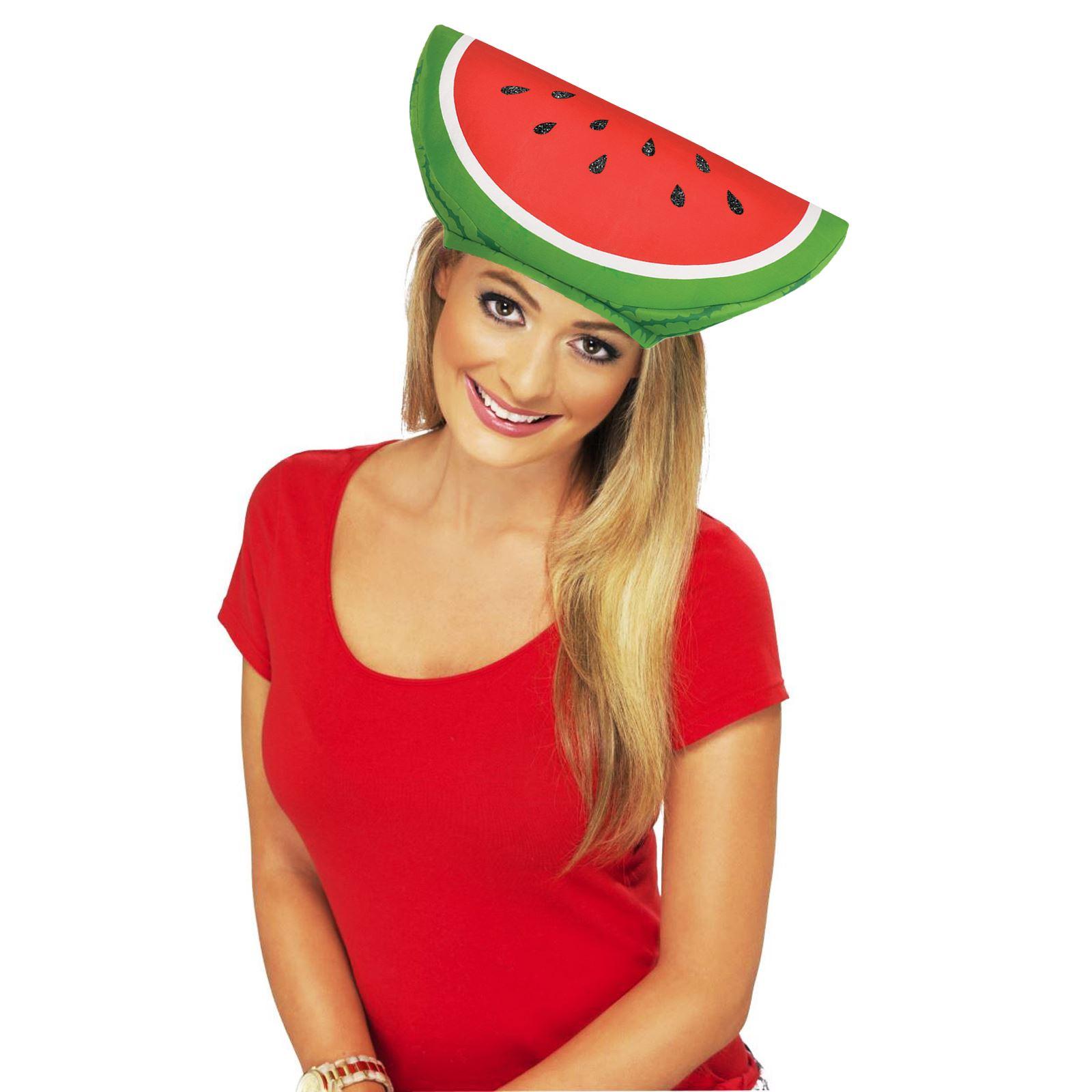 Adults Ladies Mens Kids Watermelon Fruit Hat Summer Luau BBQ Novelty ... af74276dd33