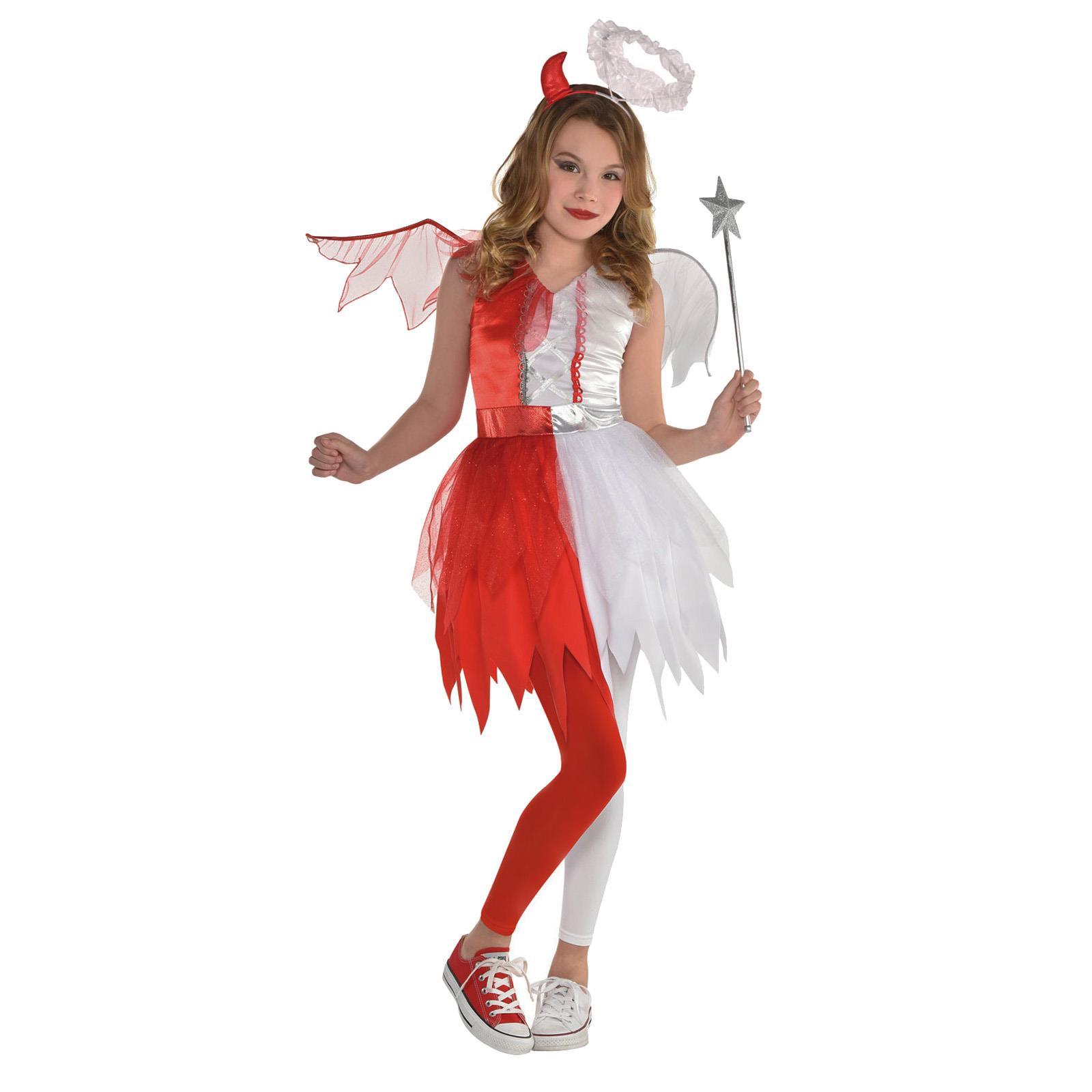 le ali//ALONE Deluxe Angel Natività Ragazze Natale Costume Età 5-13 Inc