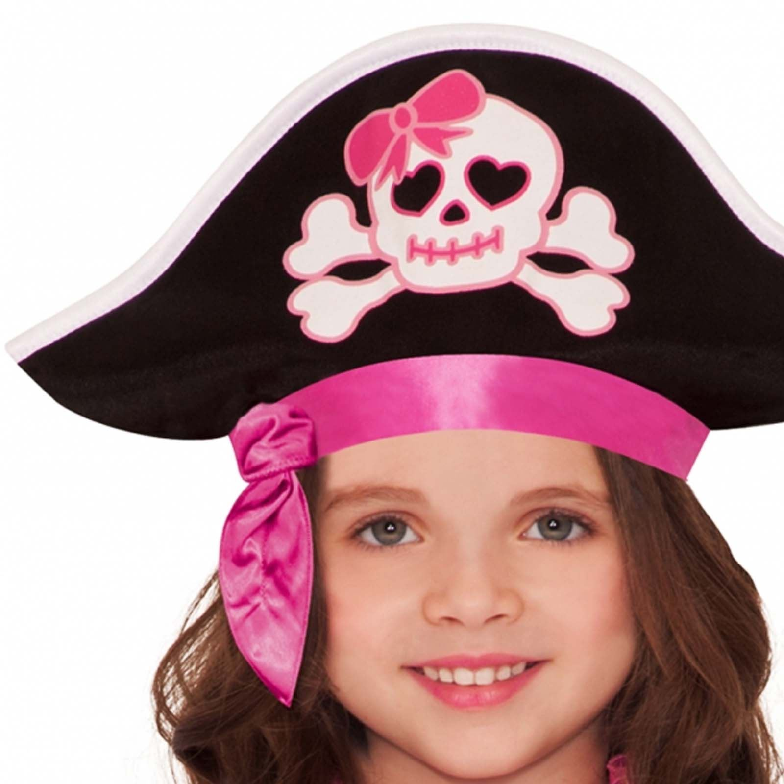 Child Pink Pirate Girl Outfit Fancy Dress Costume Book ...