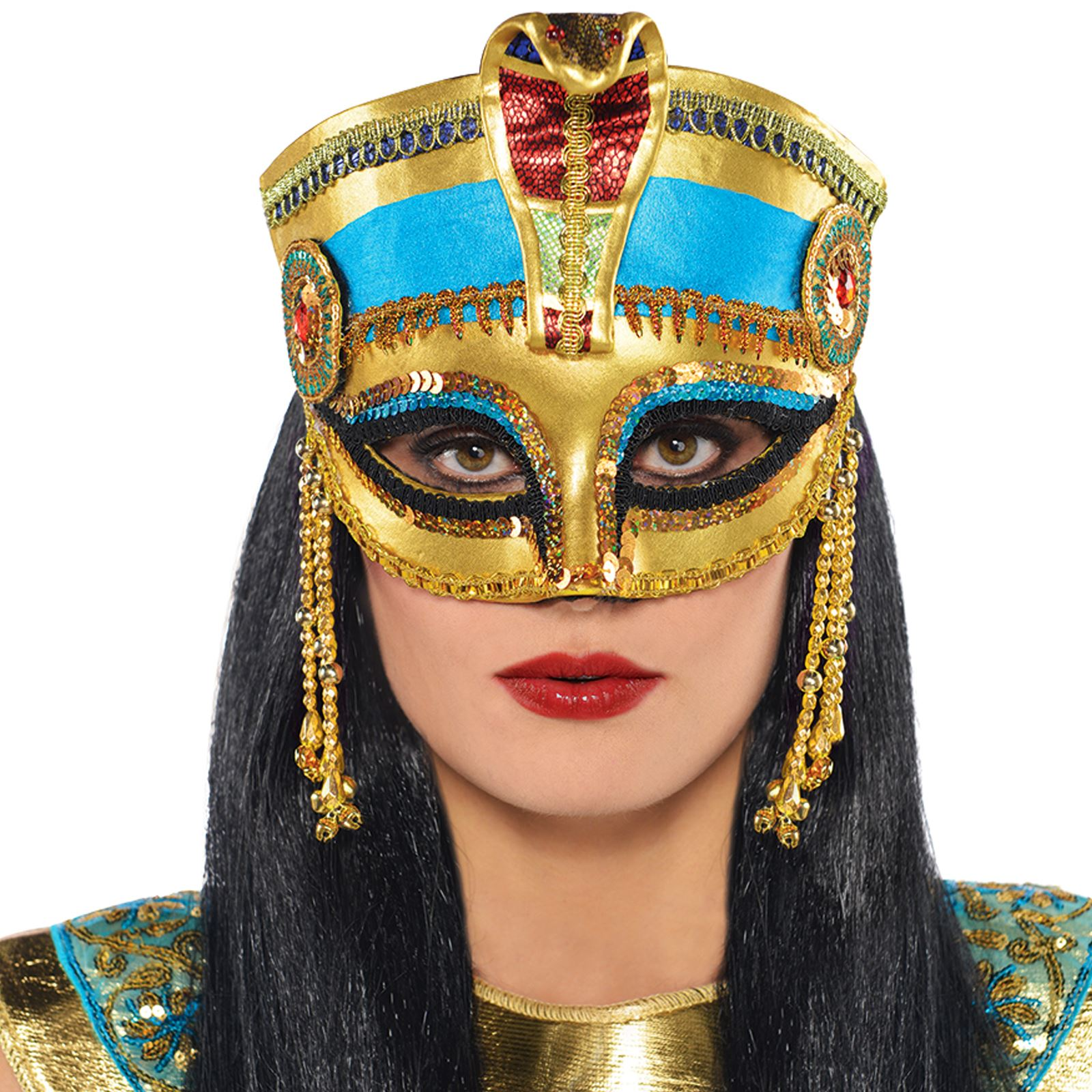 Egyptian Cleopatra Mask Headpiece Crown Pharaoh Ancient ...