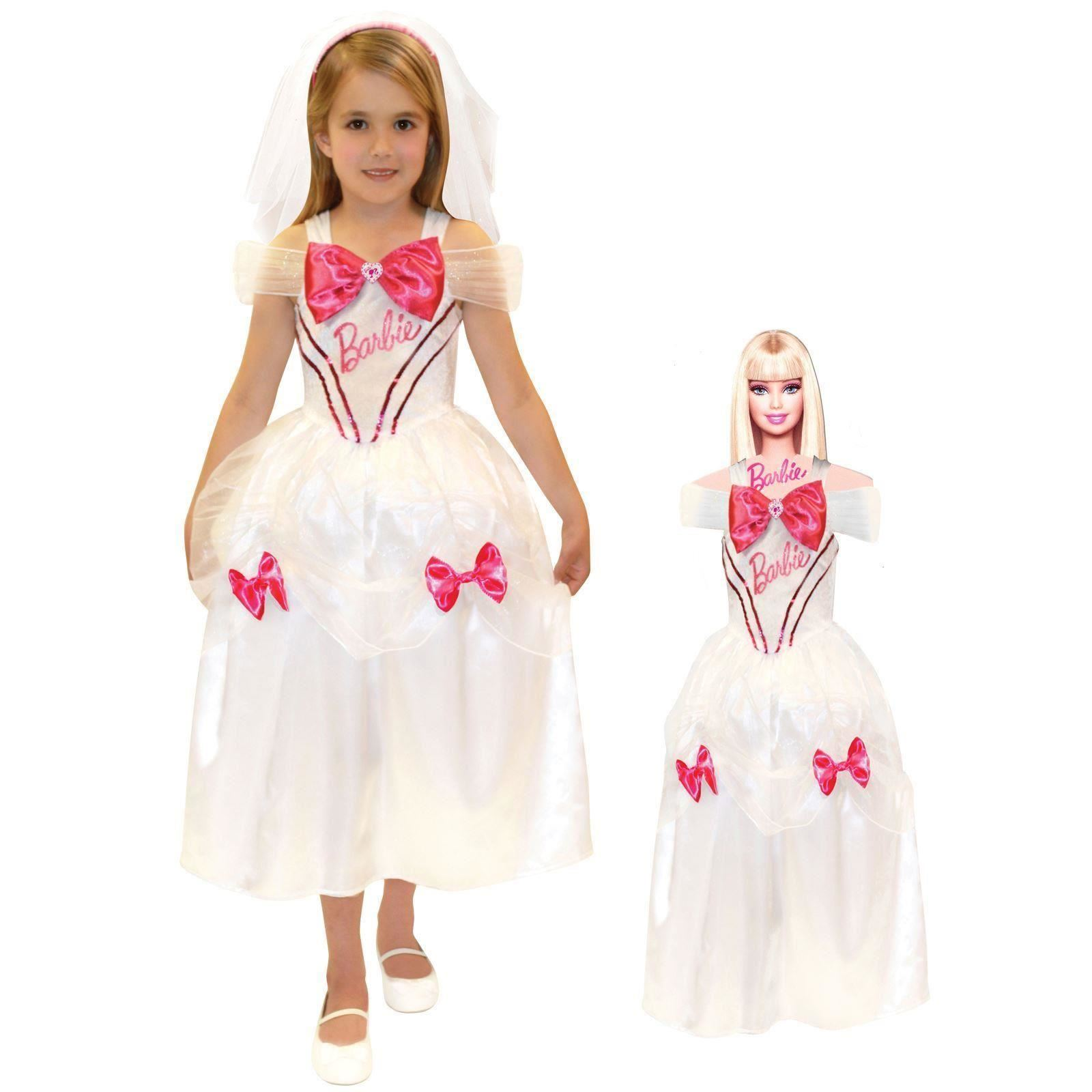 Girls Book Week Bride Princess Fancy Dress Costume With Matching