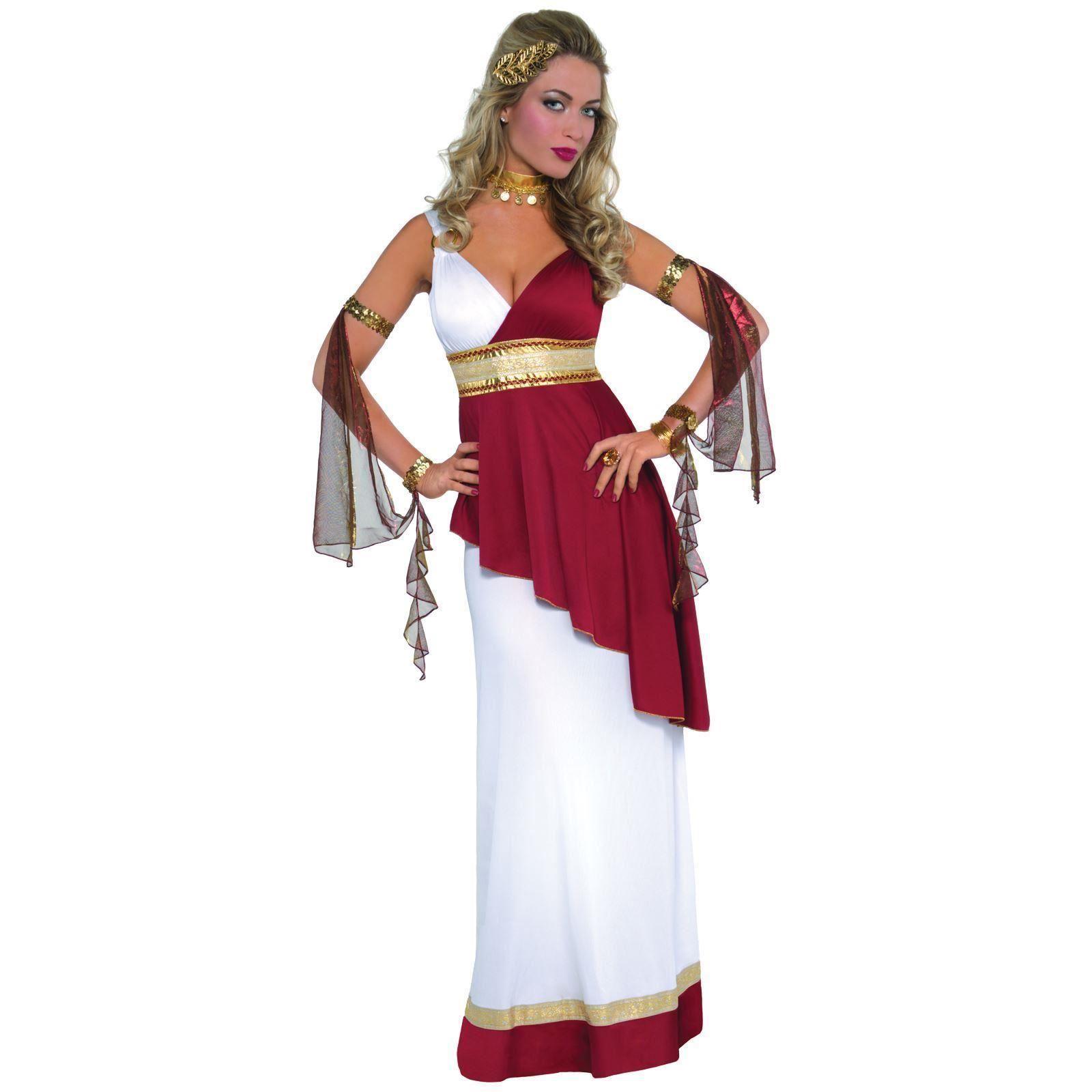 Imperial Empress Toga Costume  sc 1 st  eBay & Grecian Greek Goddess Carnival Ladies Roman Fancy Dress Womens Toga ...