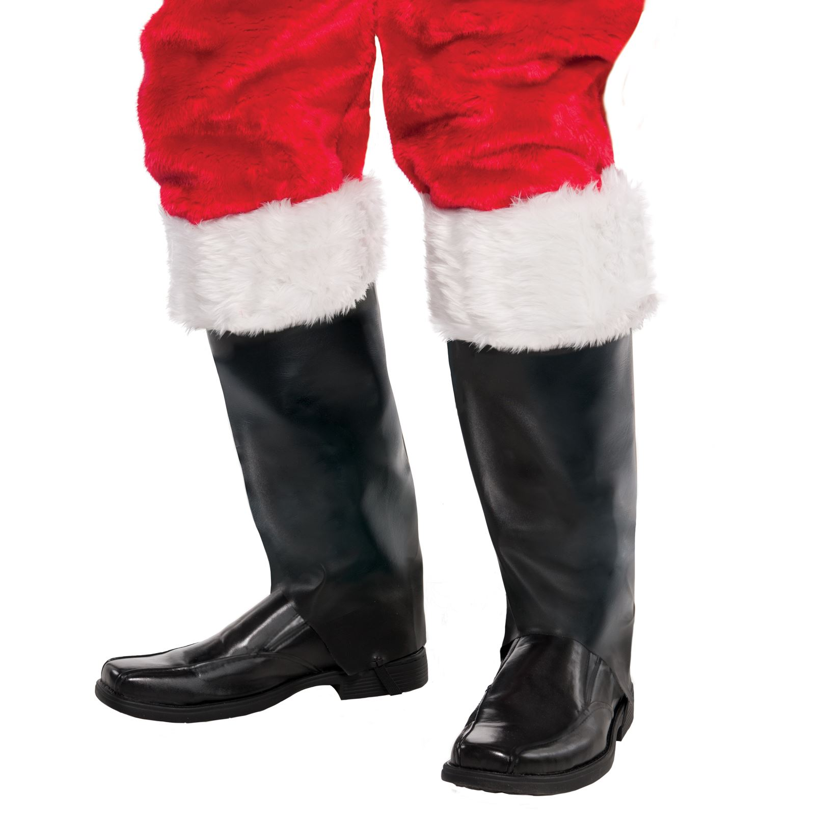 Santa Claus Boot Tops Costume Accessory Shoe Covers Faux Fur Adult Christmas W
