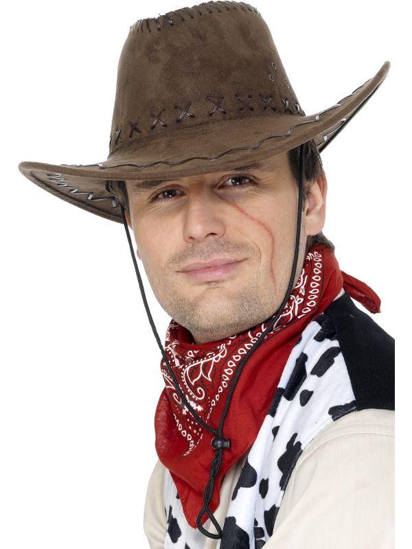 CAPPELLO cowboy adulto uomo Smiffys Costume Costume Cappello