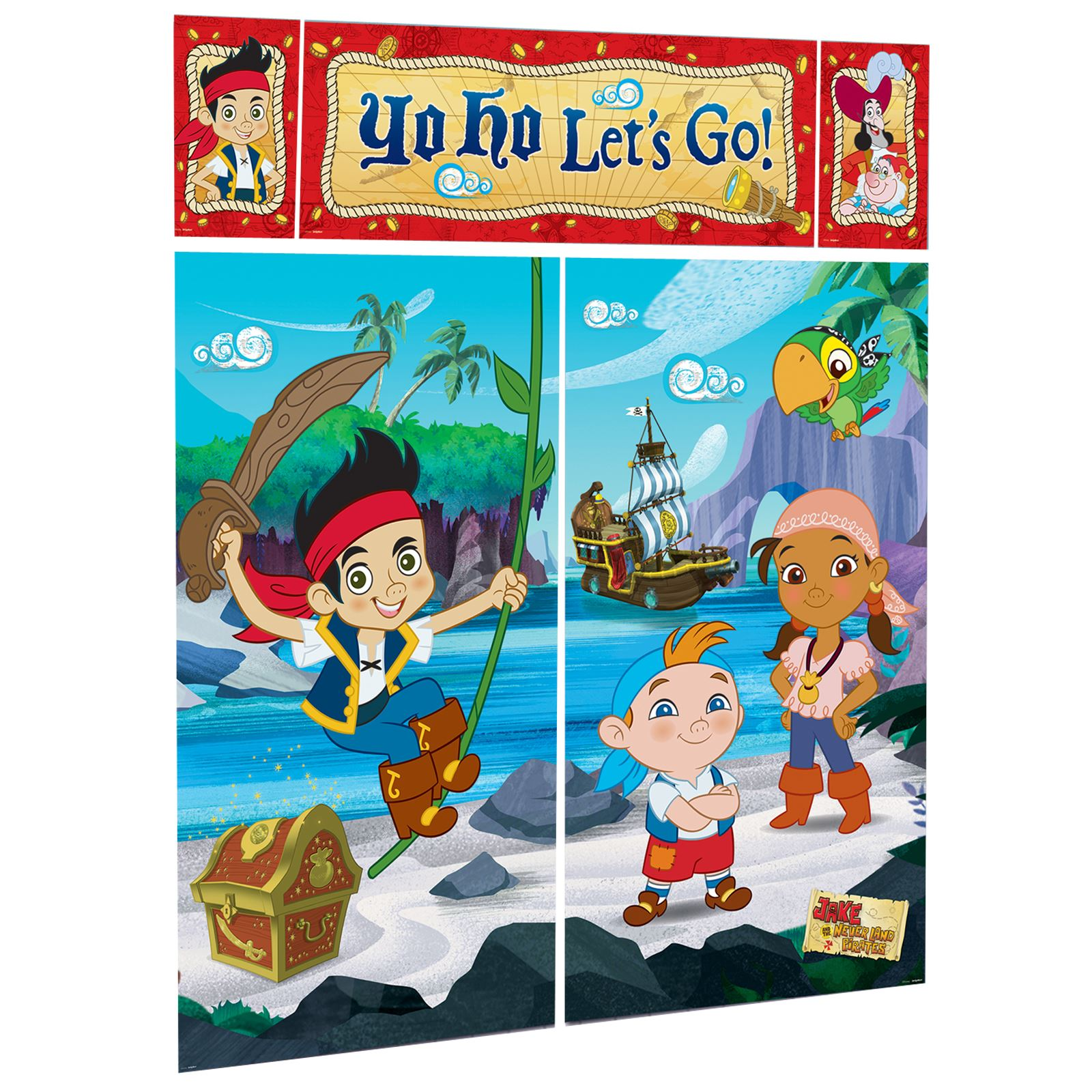 Jake And The Neverland Pirates Scene Setter Birthday Party Wall