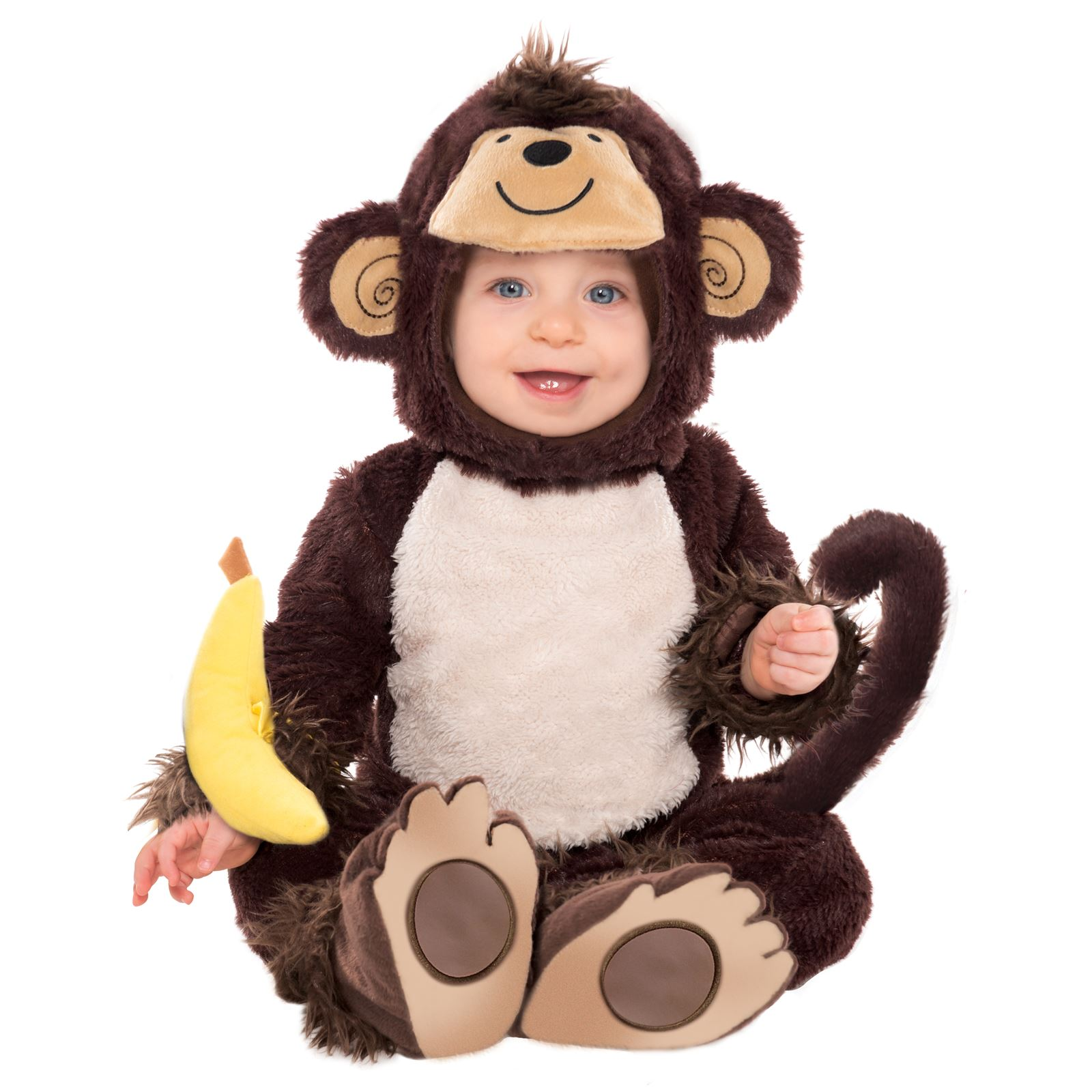 Cute Baby Monkey Jungle George Fur Costume All in One ... - photo#43