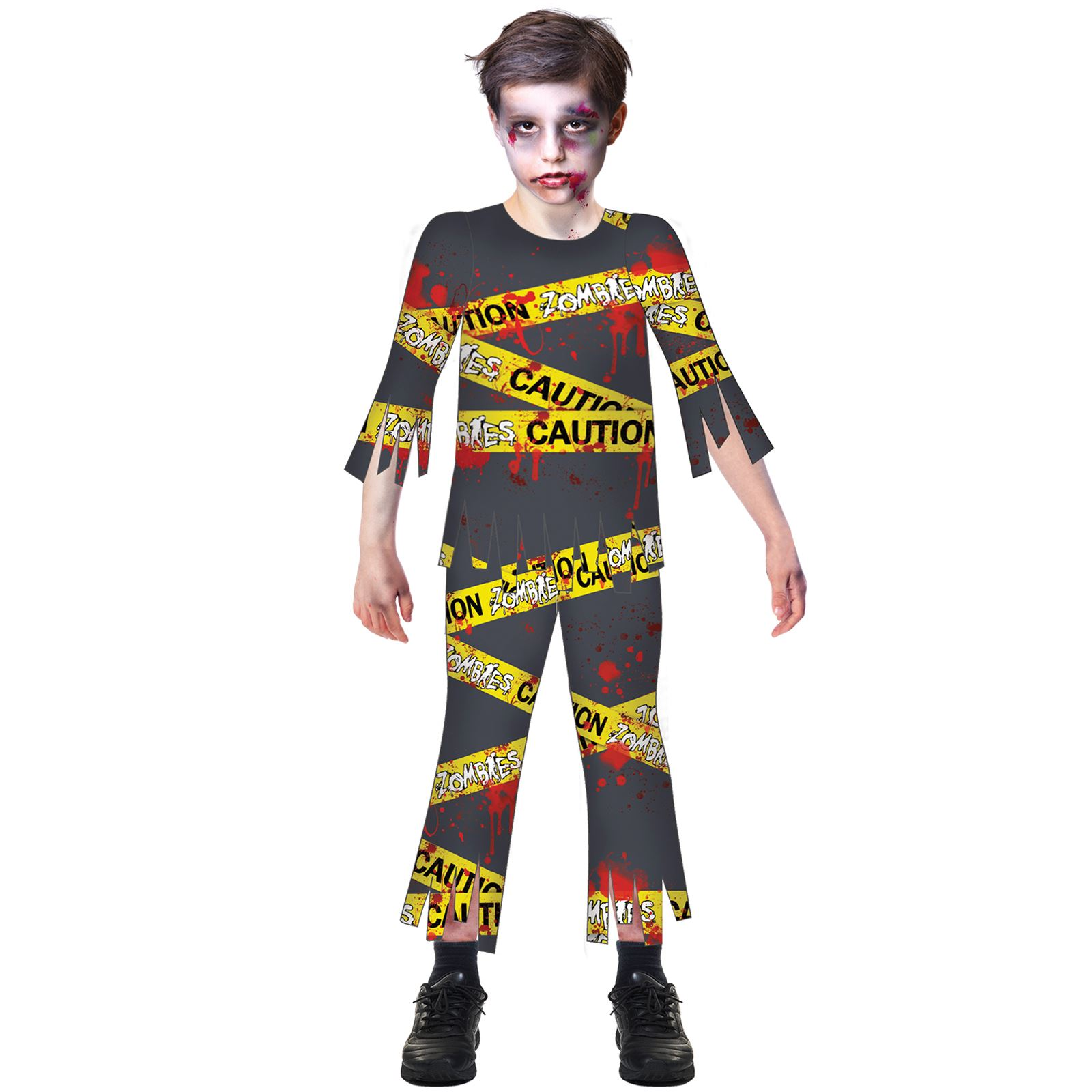 Boys Halloween Toxic Skeleton Dressing Up Costume 12 Months to 10 Years